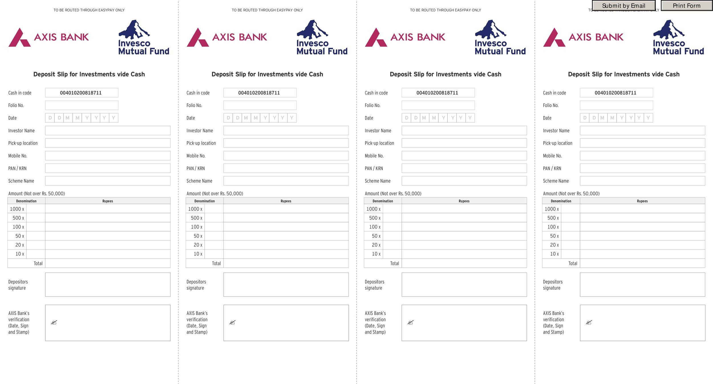 37 Bank Deposit Slip Templates  Examples - Template Lab
