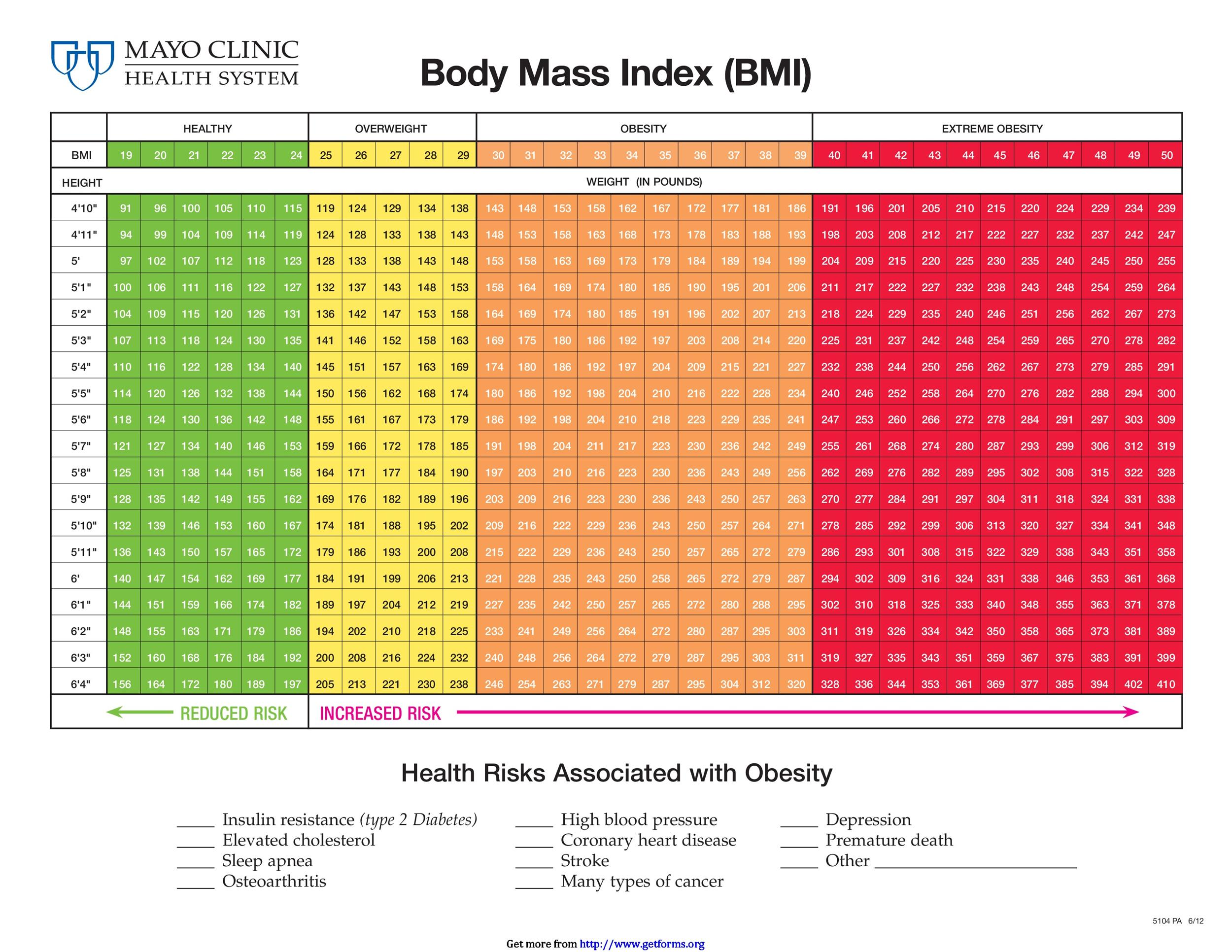 36 Free BMI Chart Templates (for Women, Men or Kids) - Template Lab