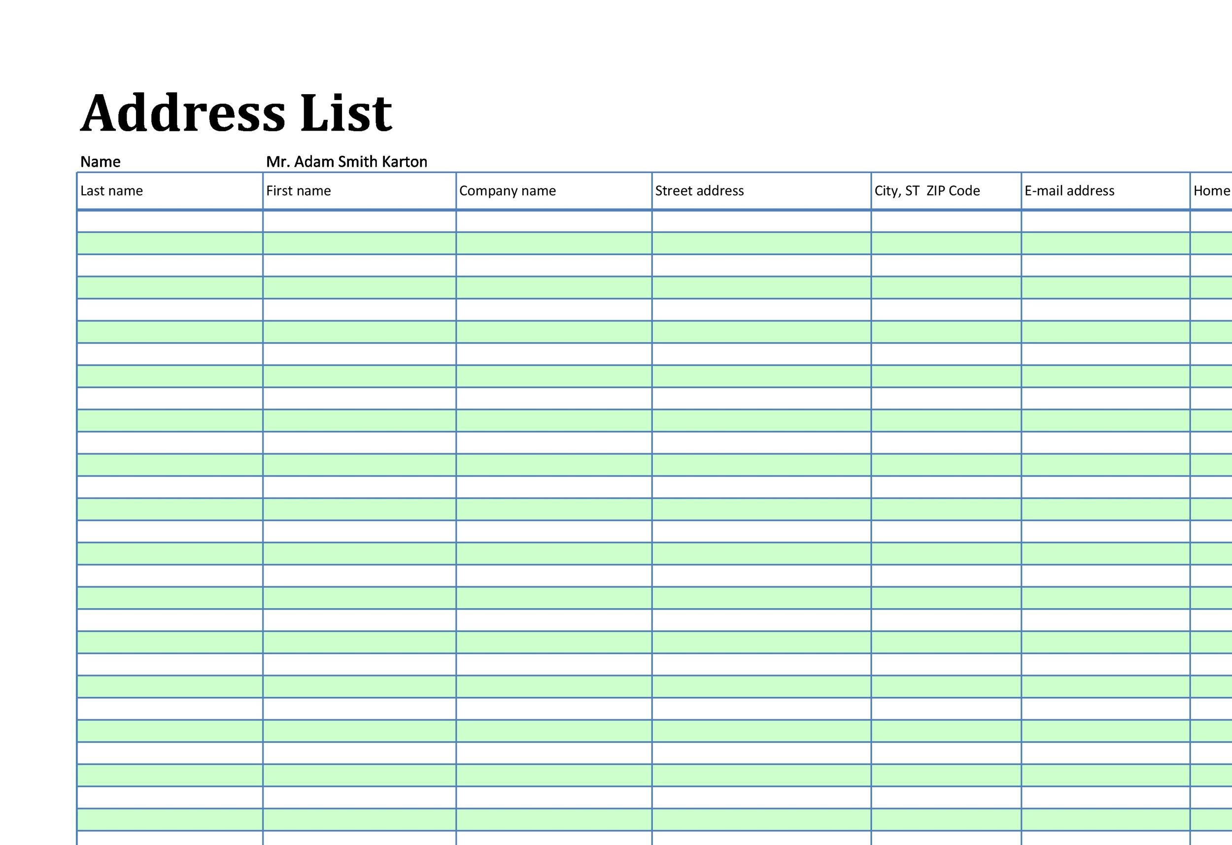 40 Phone  Email Contact List Templates Word, Excel ᐅ Template Lab