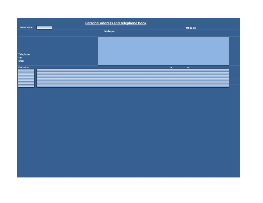 40 Phone  Email Contact List Templates Word, Excel - Template Lab - contacts list template