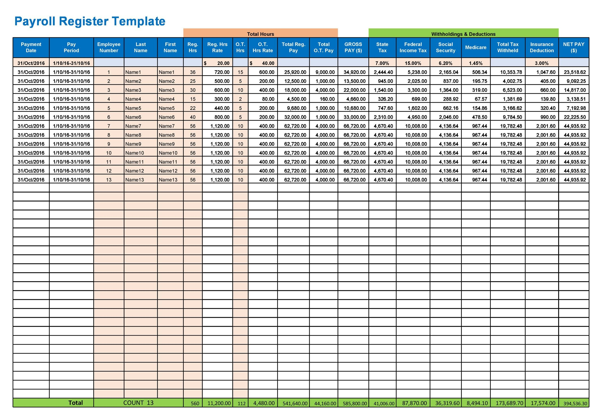 40+ Free Payroll Templates  Calculators - Template Lab