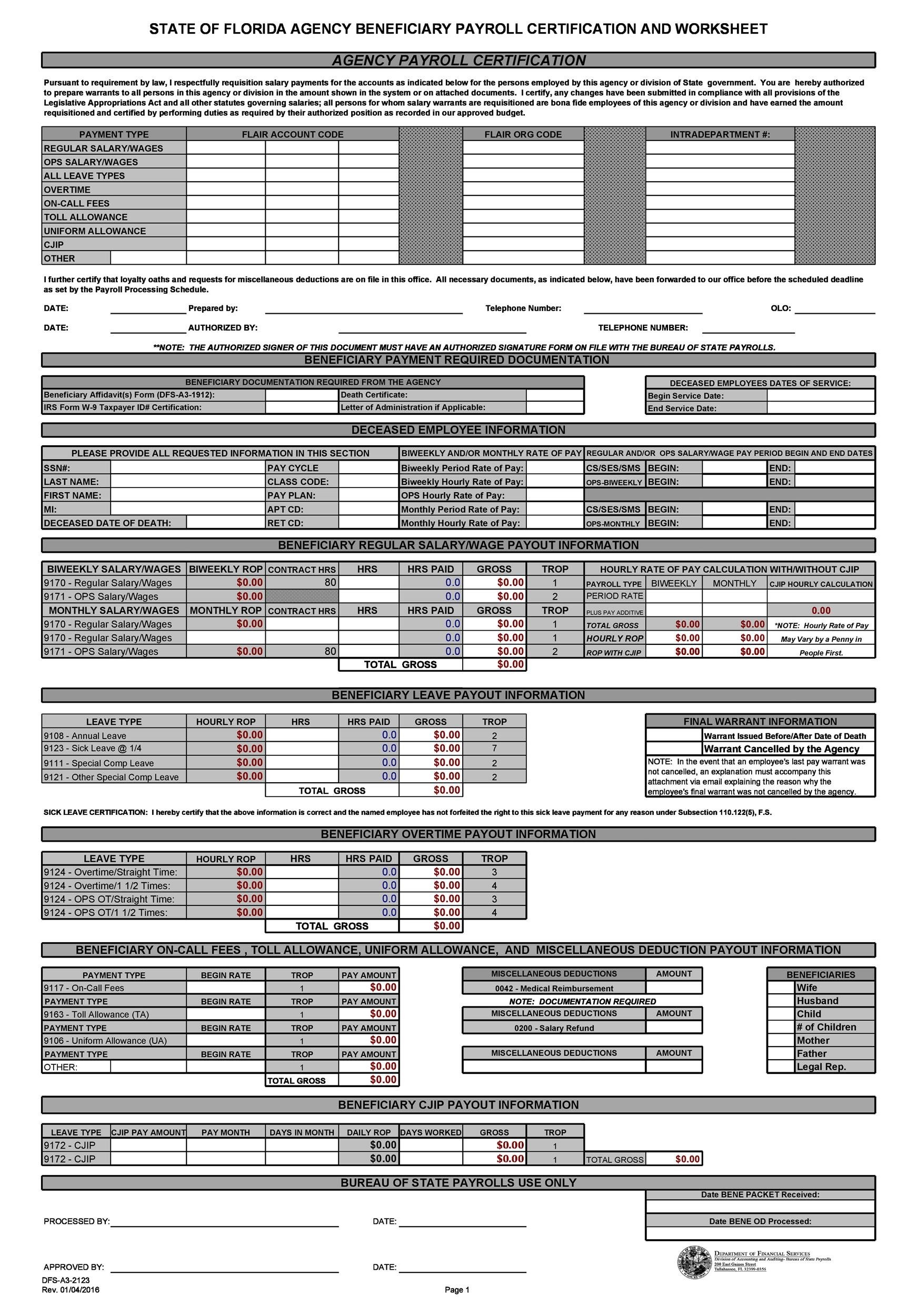40+ Free Payroll Templates  Calculators - Template Lab - free printable payroll forms