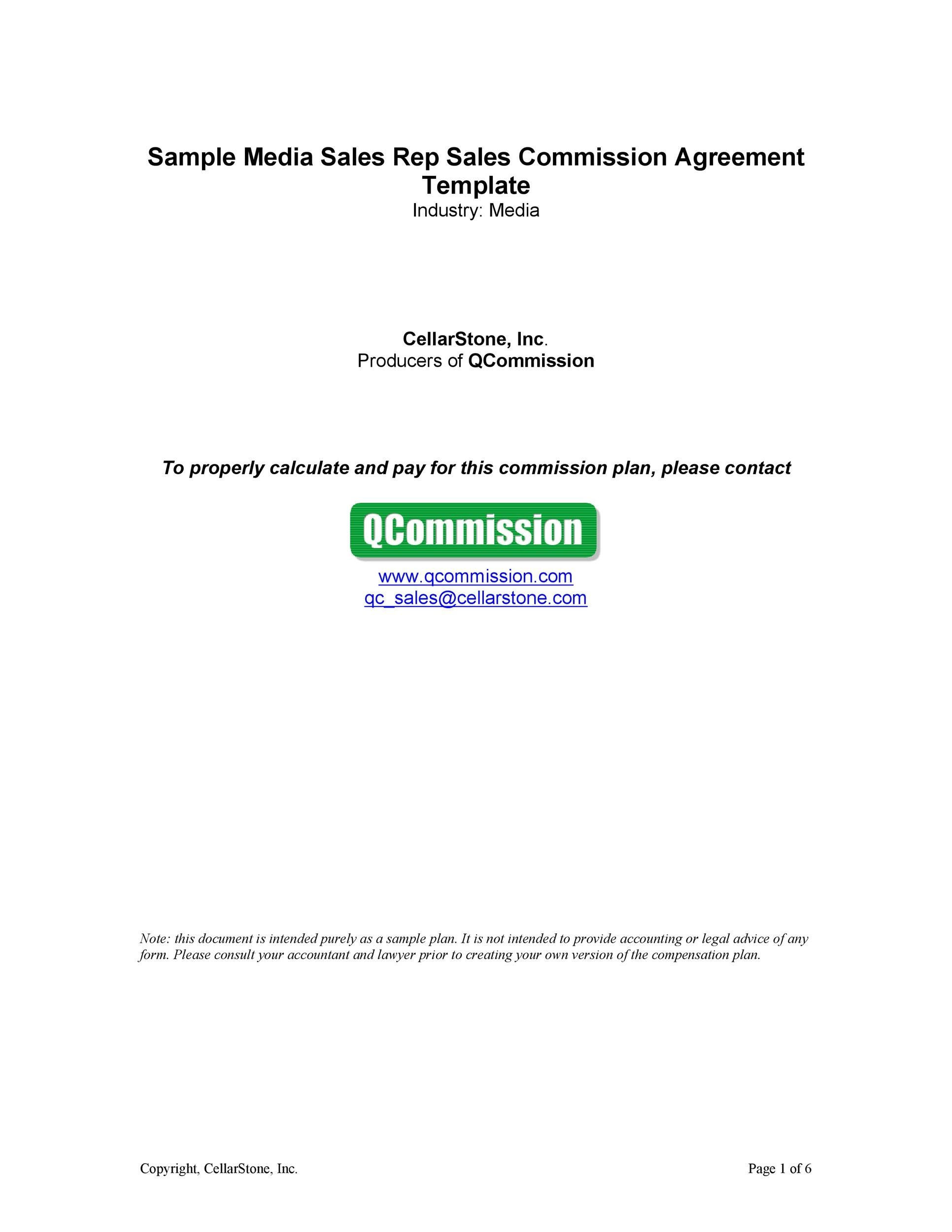 36 Free Commission Agreements (Sales, Real Estate, Contractor)