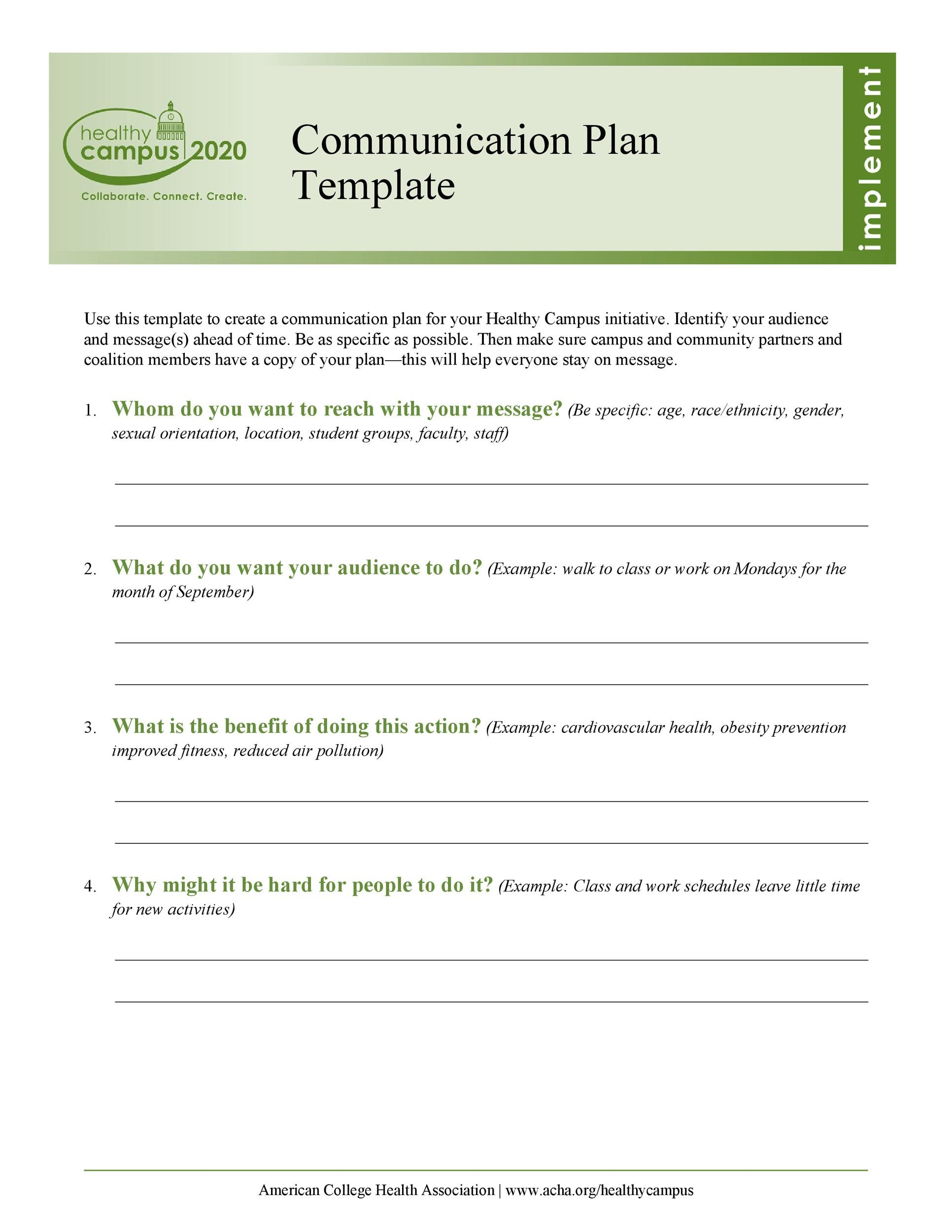 37 Simple Communication Plan Examples (+ Free Templates) ᐅ Template Lab