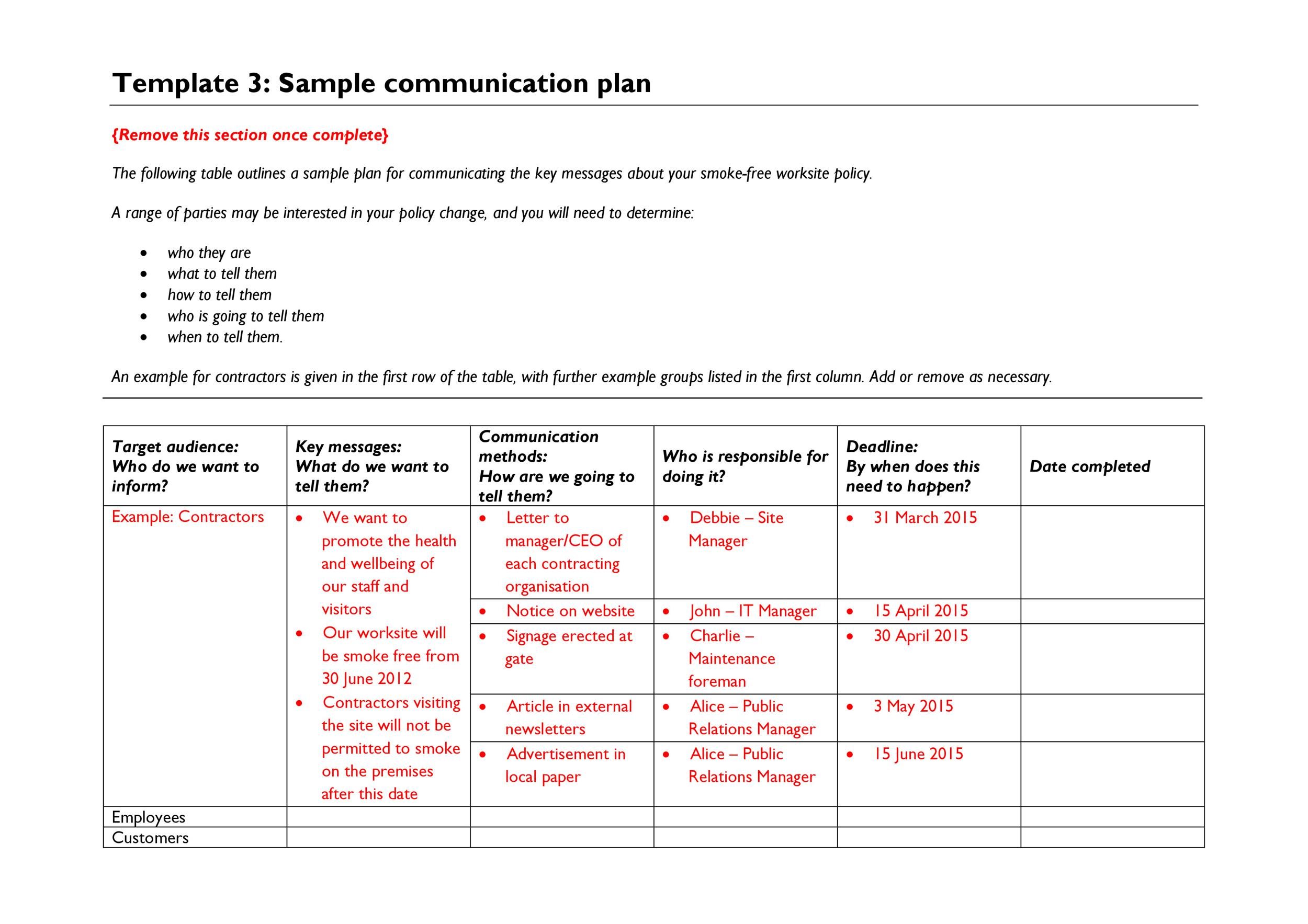 37 Simple Communication Plan Examples (+ Free Templates) - Template Lab
