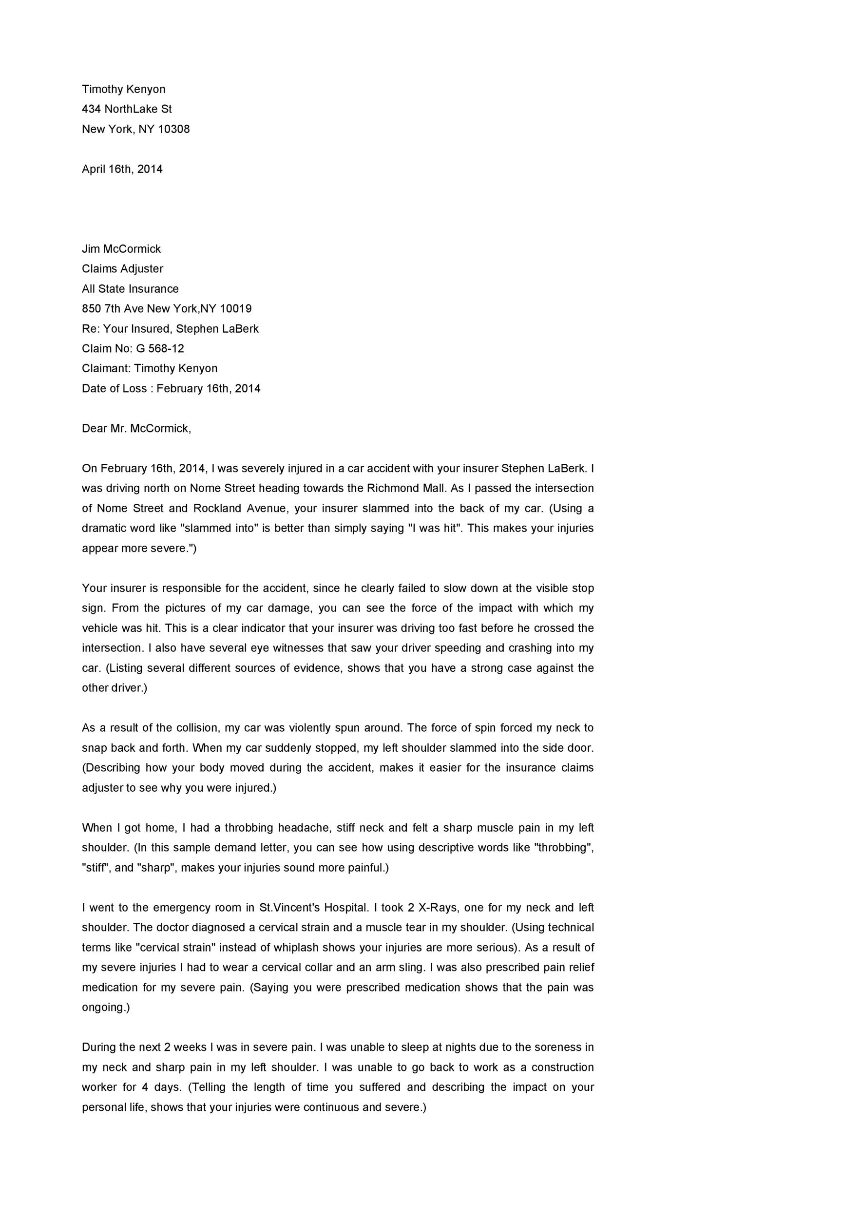 demand letter example  demand letters definition  examples