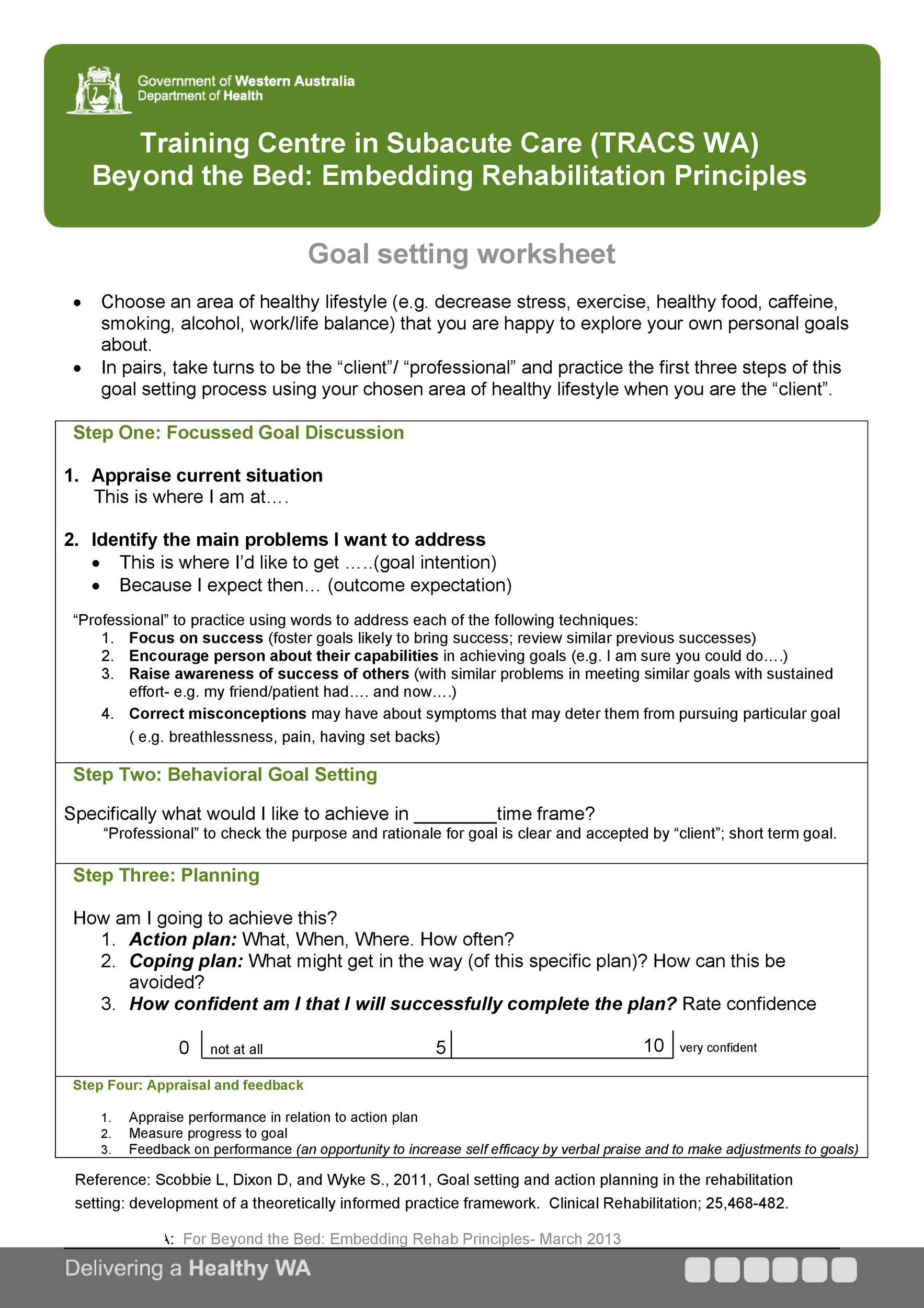 41 SMART Goal Setting Templates  Worksheets - Template Lab - goal planning template