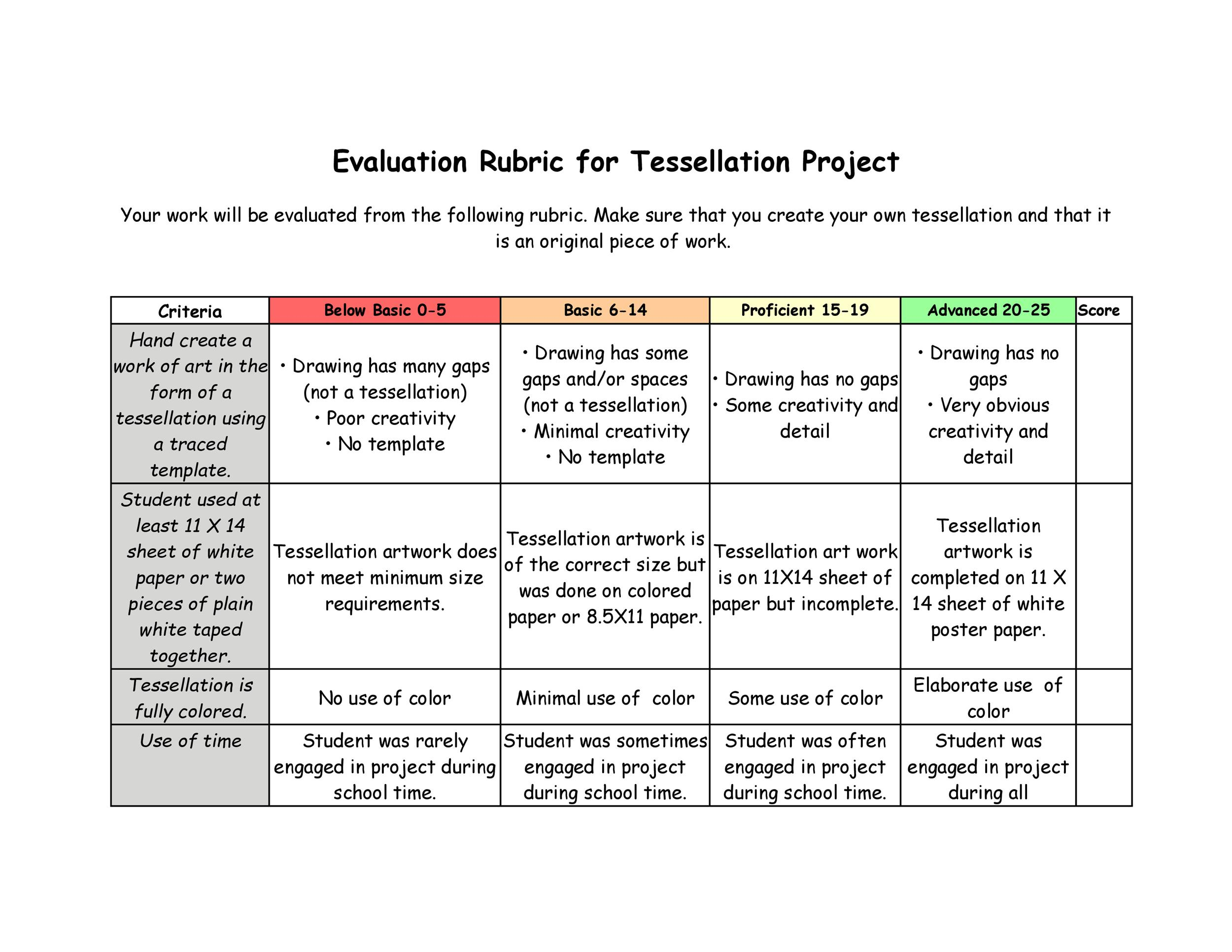 Paper Grading Rubric Template - Grading and Rubrics