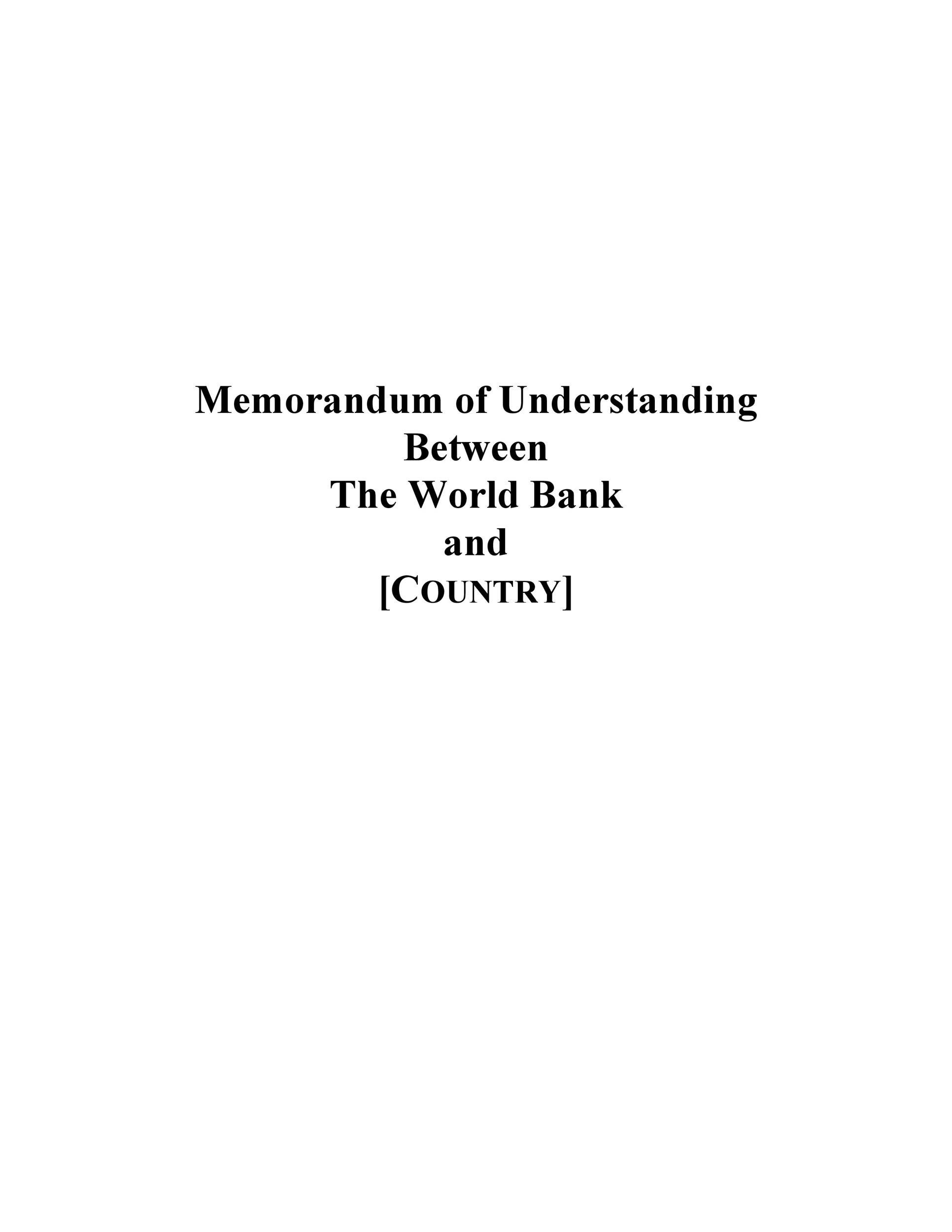 50 Free Memorandum of Understanding Templates Word ᐅ Template Lab