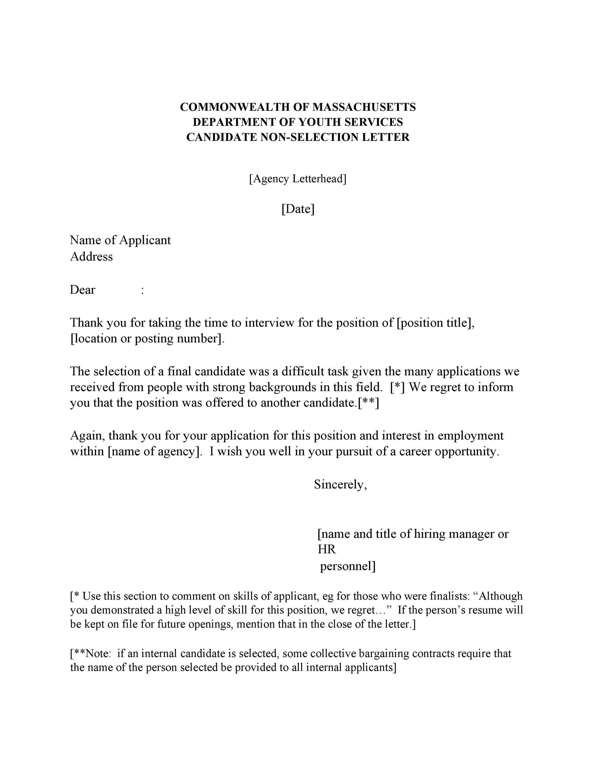 39 Job Rejection Letter Templates  Samples ᐅ Template Lab