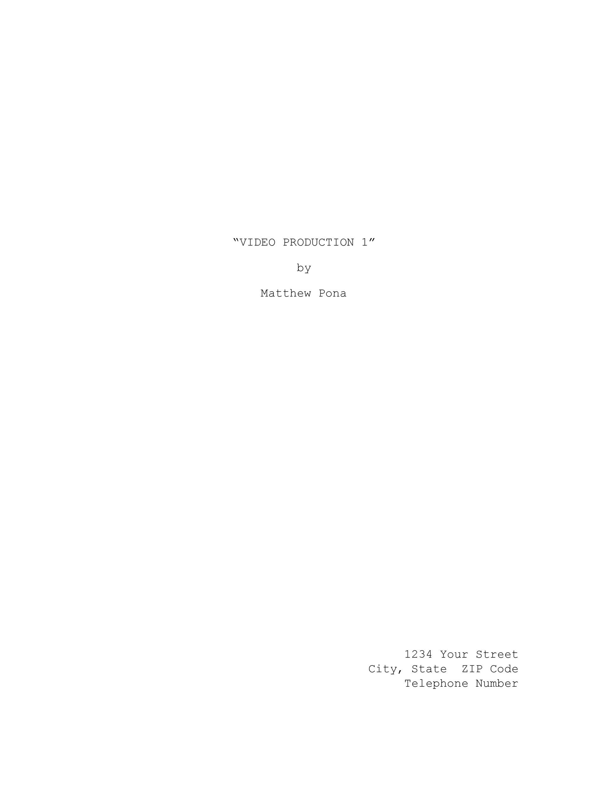 37 Creative Screenplay Templates  Screenplay Format Guide ᐅ