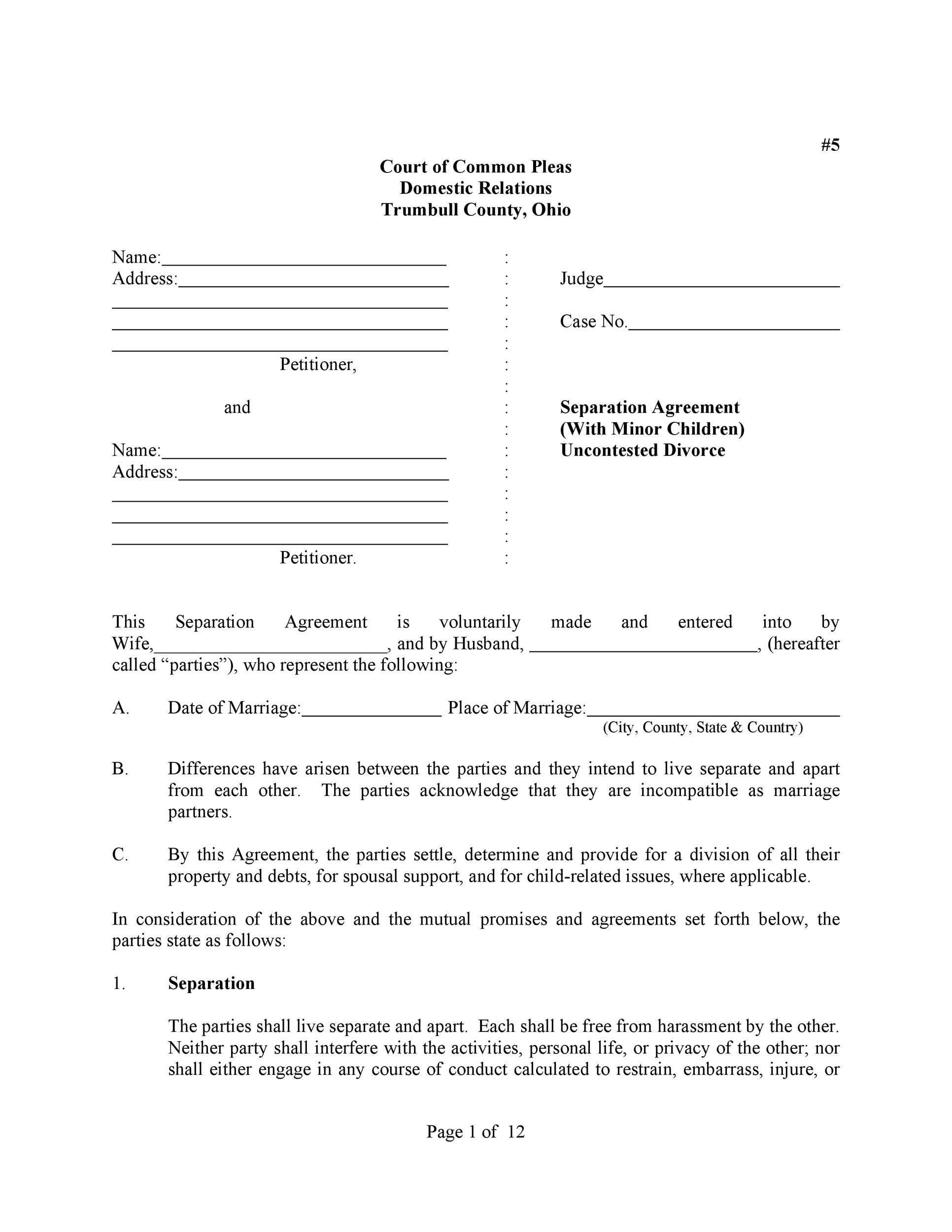 Separation Letter Template Fresh Mou Business Partnership