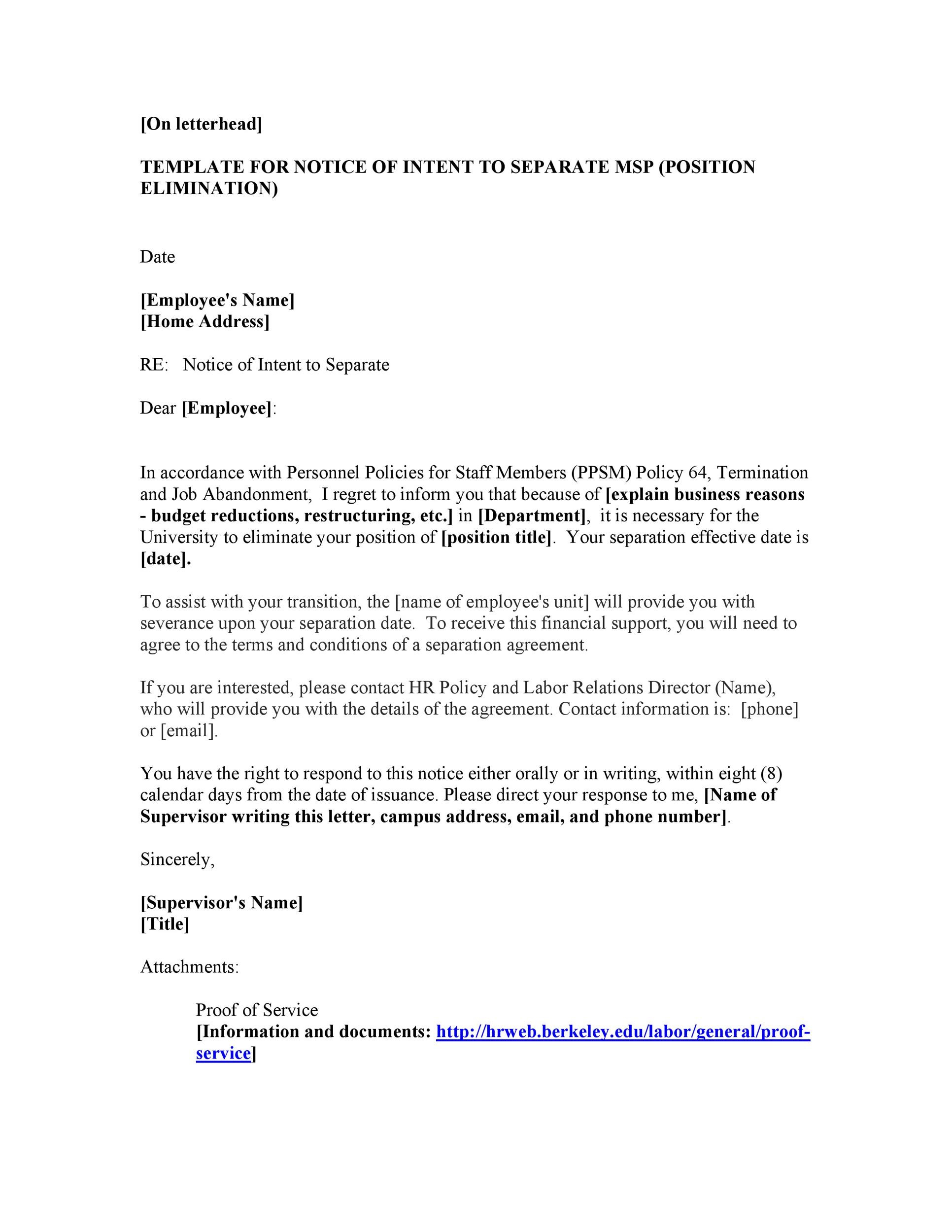 43 Official Separation Agreement Templates / Letters / Forms - business separation agreement template