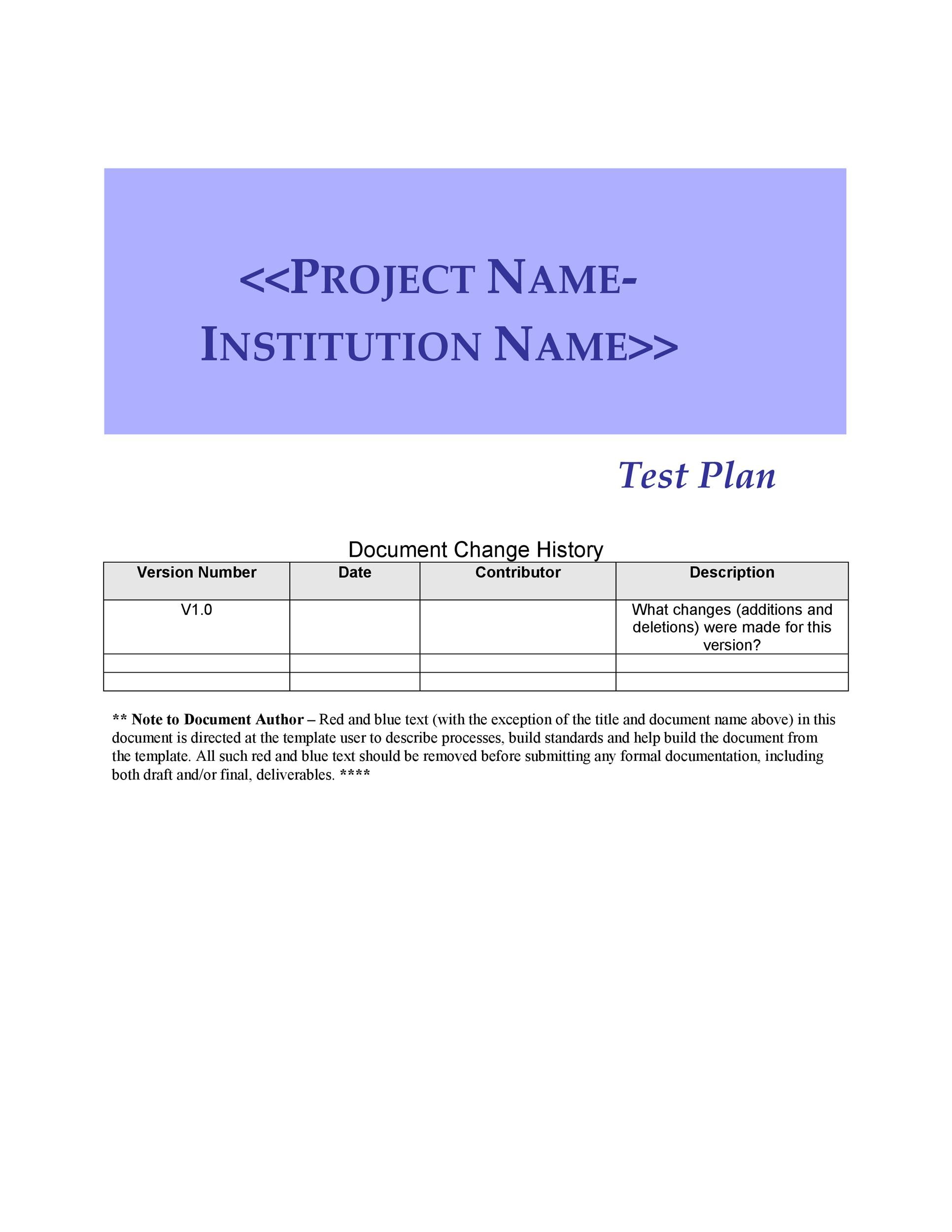 35 Software Test Plan Templates  Examples ᐅ Template Lab