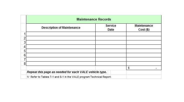 40 Printable Vehicle Maintenance Log Templates ᐅ Template Lab