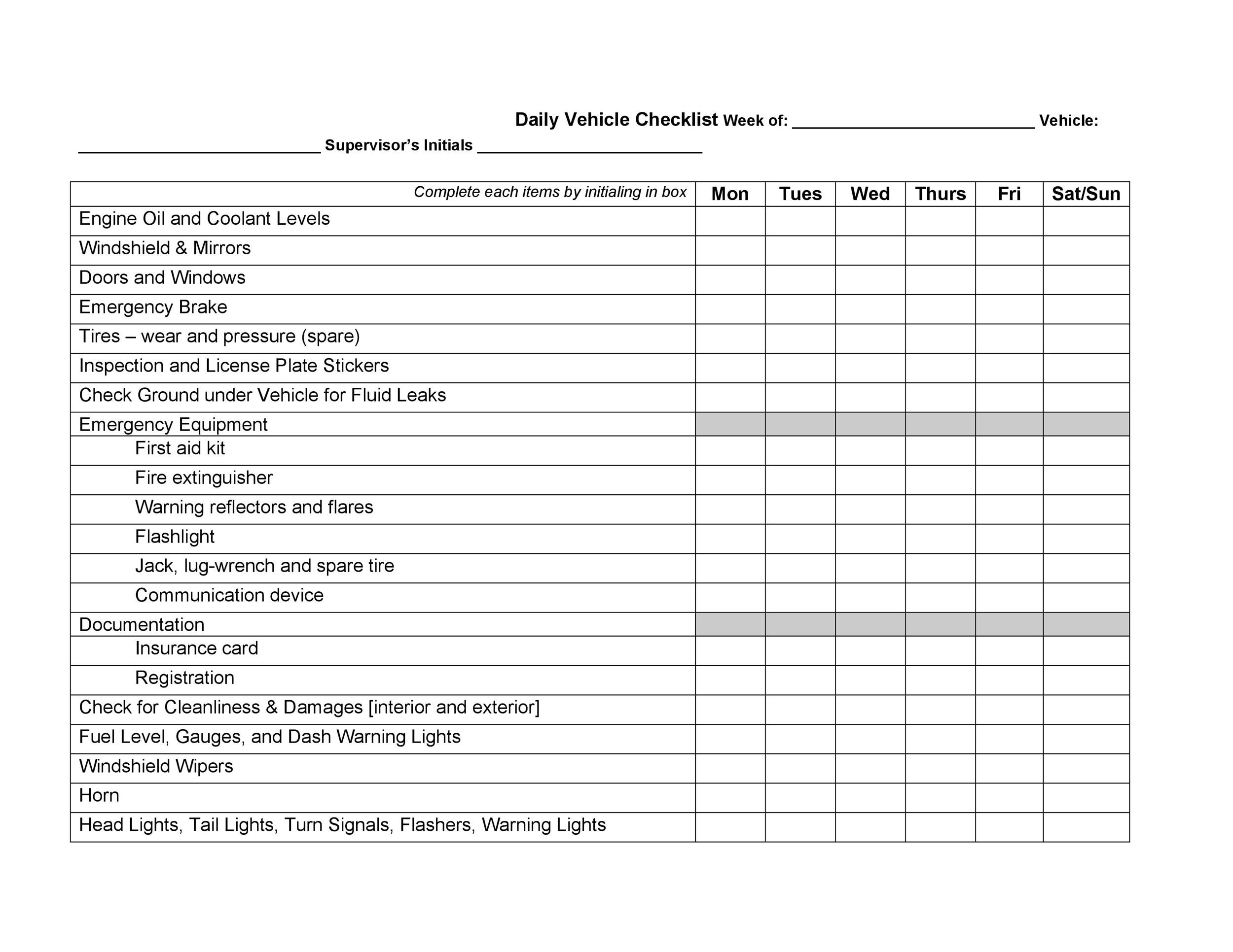 40 Printable Vehicle Maintenance Log Templates - Template Lab
