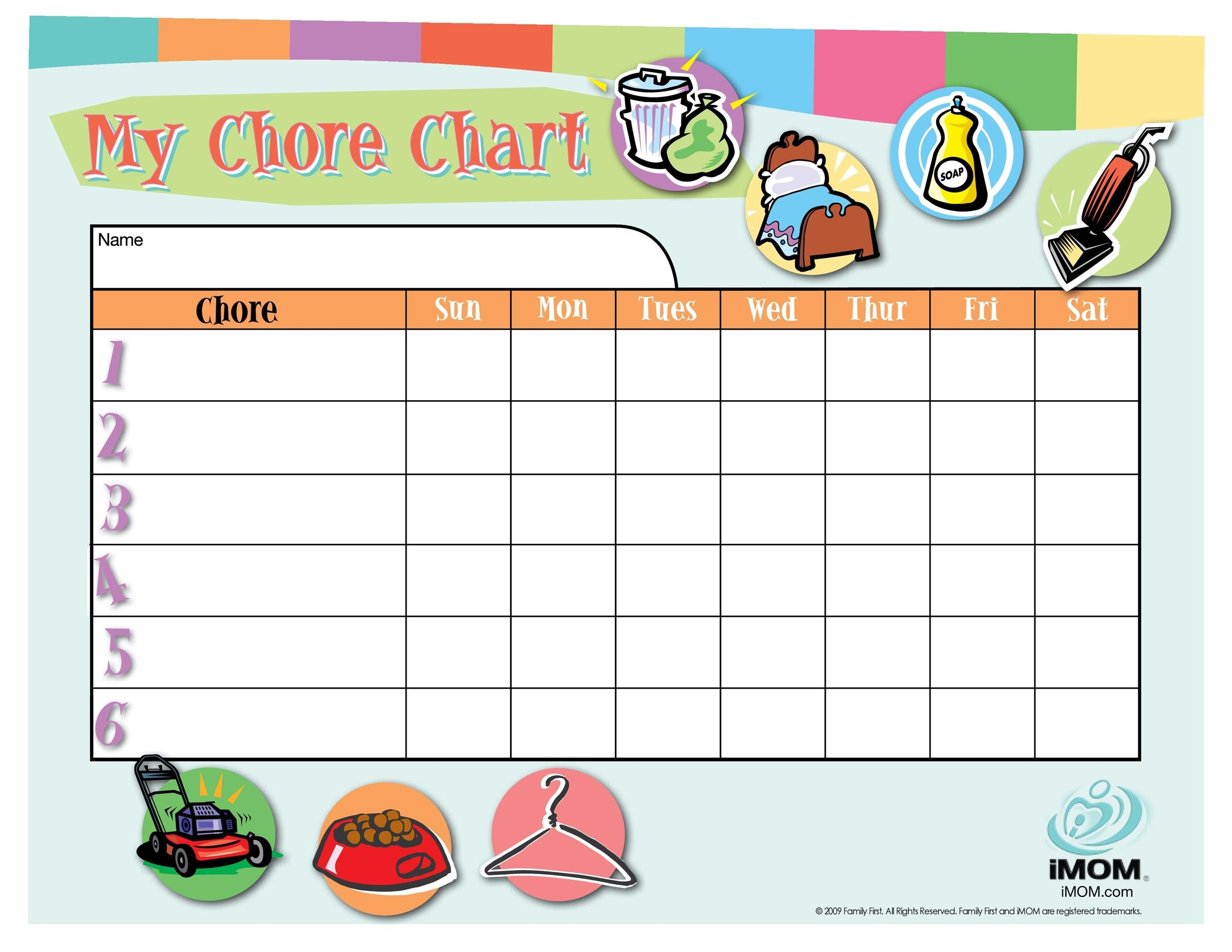 43 FREE Chore Chart Templates for Kids ᐅ Template Lab