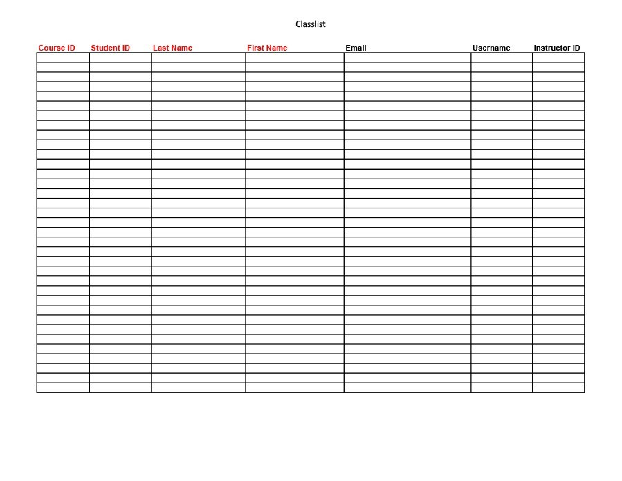 37 Class Roster Templates Student Roster Templates for Teachers - class list template