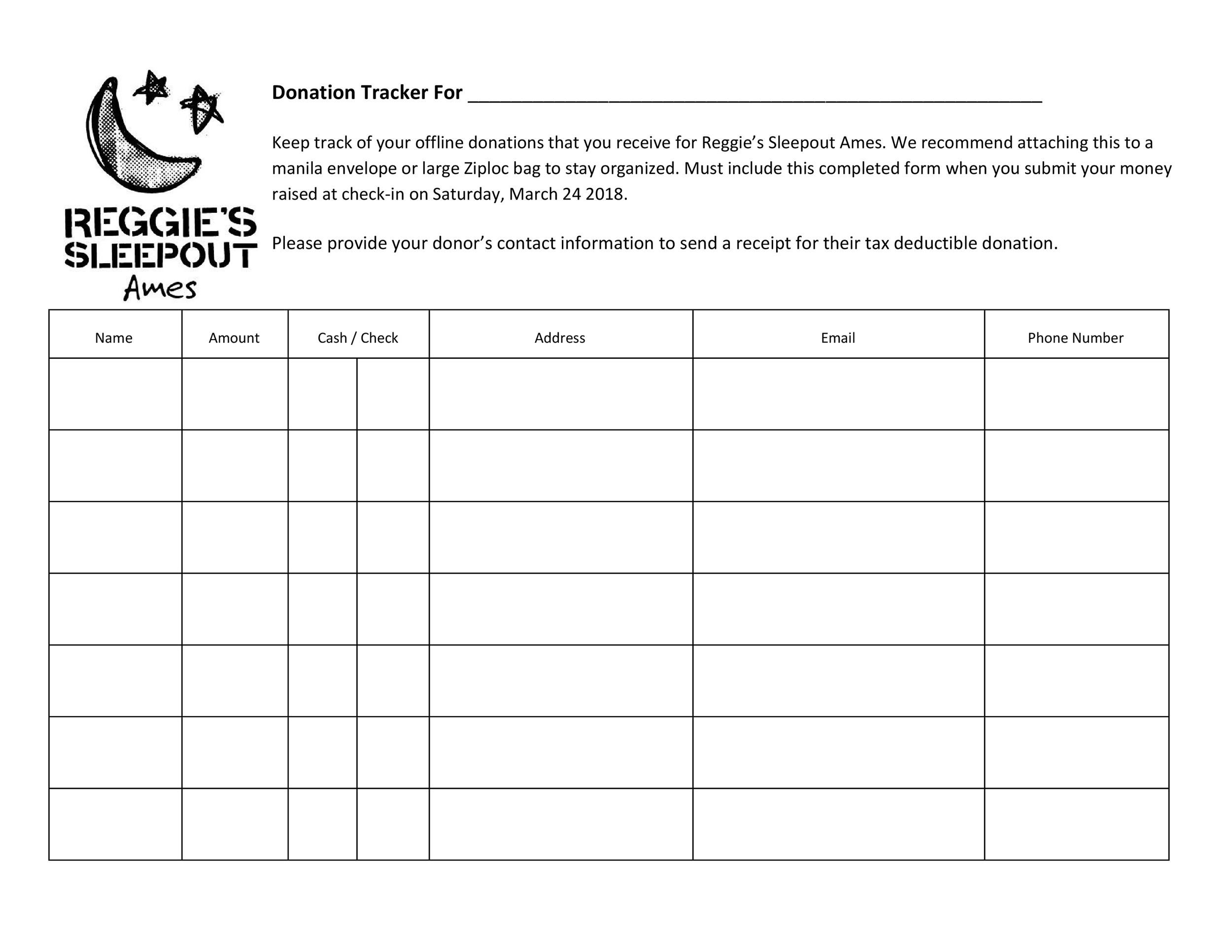 34 Professional Donation  Fundraiser Tracker Templates ᐅ Template Lab