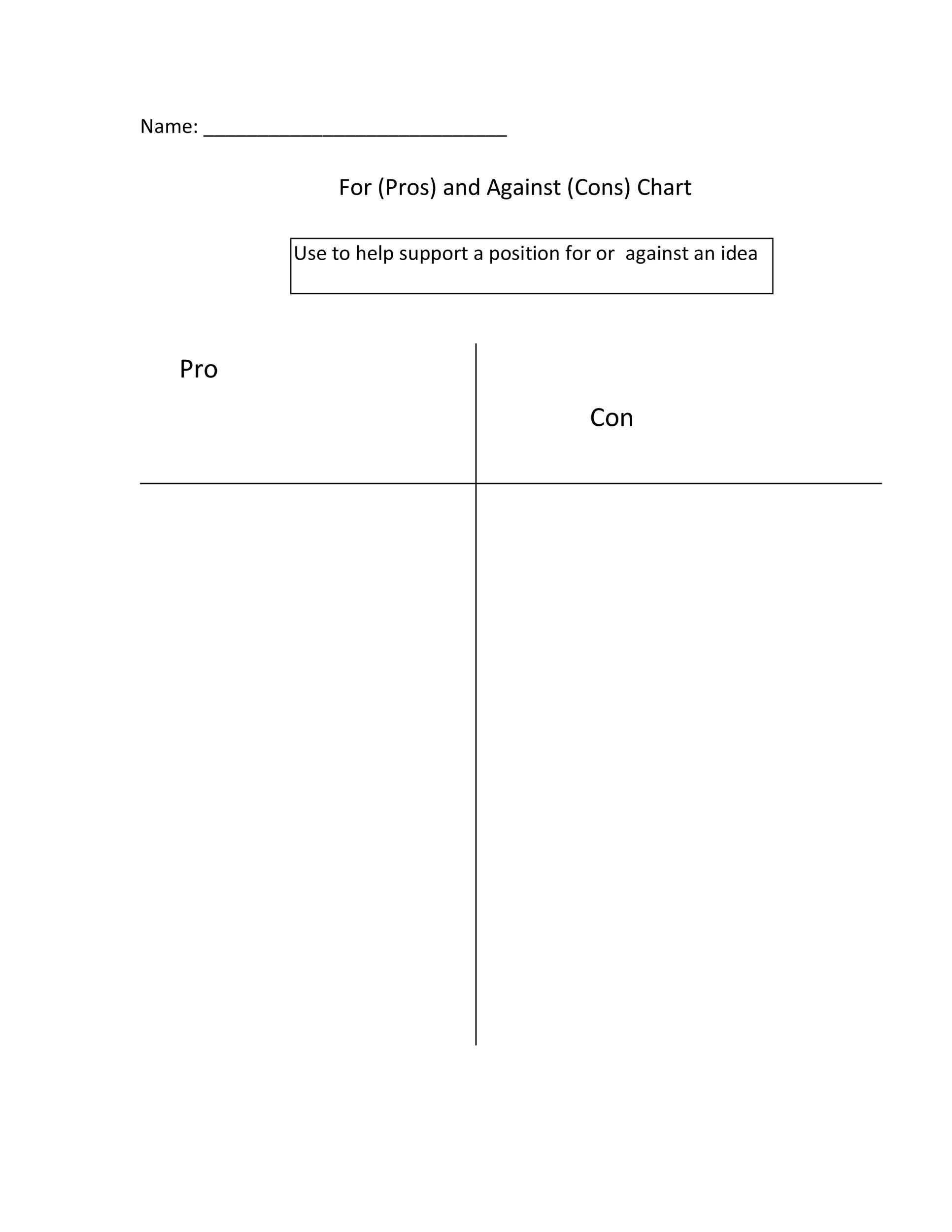 pros and cons worksheet template - Canasbergdorfbib