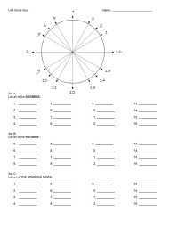 Unit Circle Chart | Unit Circle Chart Tan Unit Circle Chart Template With Practice