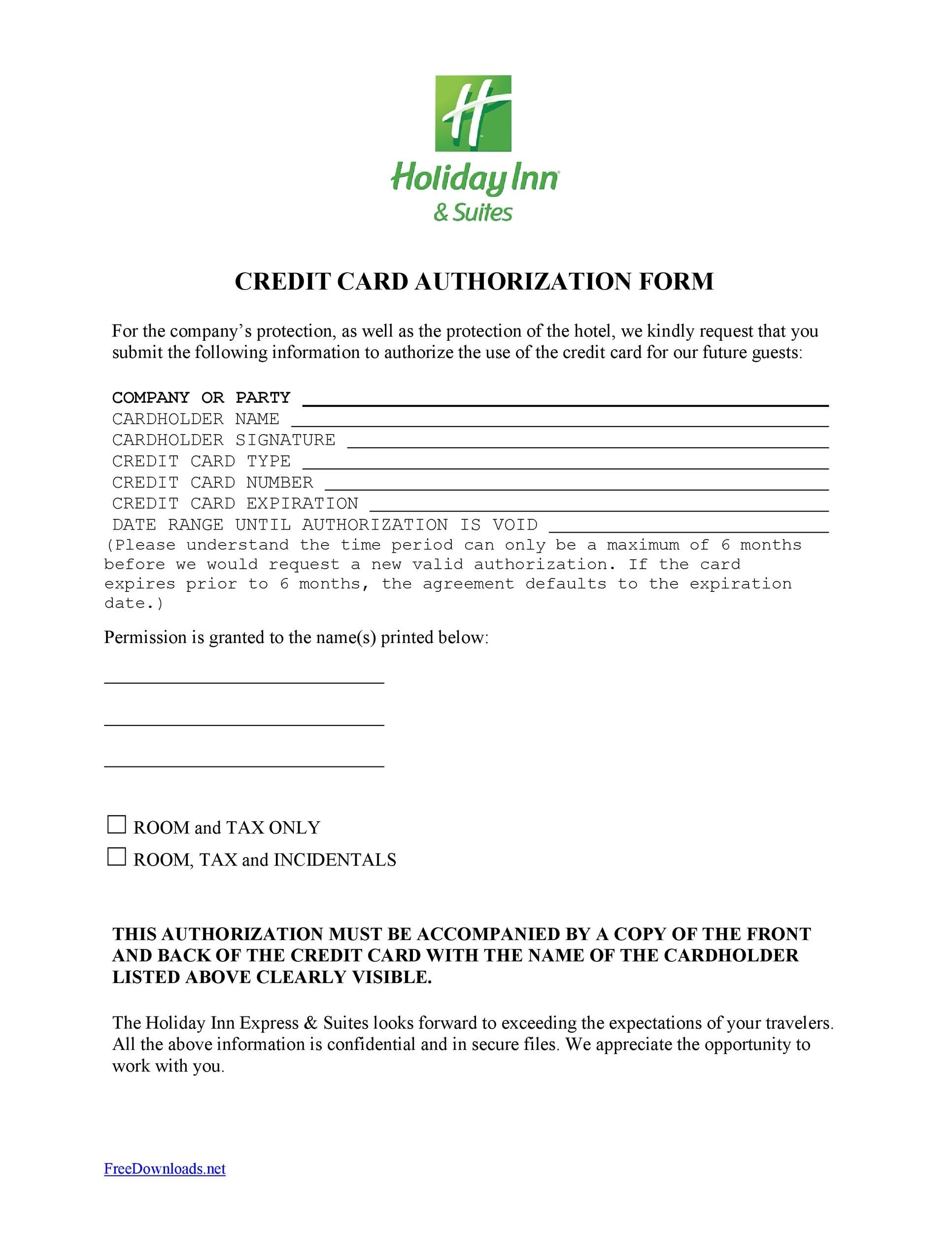 41 Credit Card Authorization Forms Templates {Ready-to-Use} - authorization to use credit card