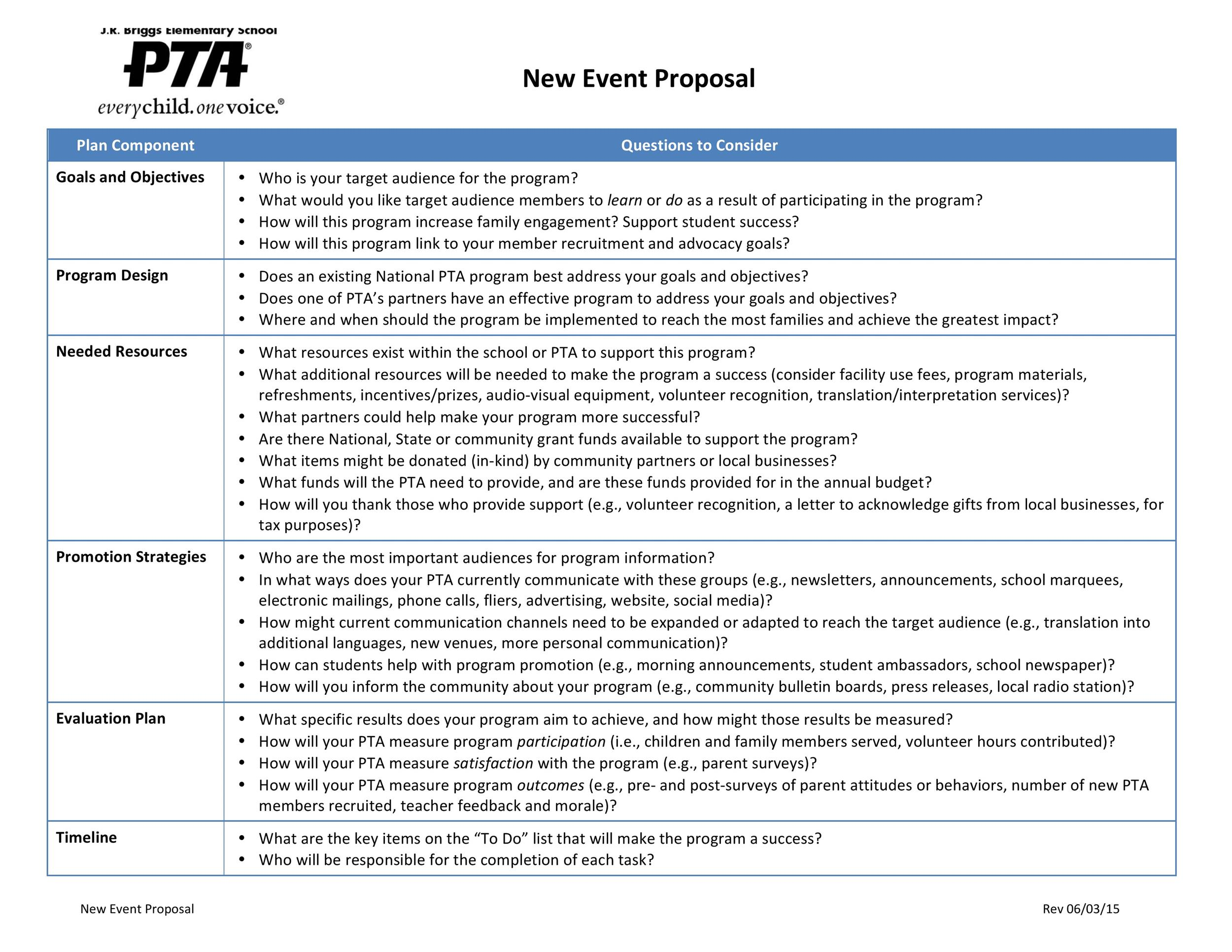 38 Best Event Proposal Templates  Free Examples ᐅ Template Lab