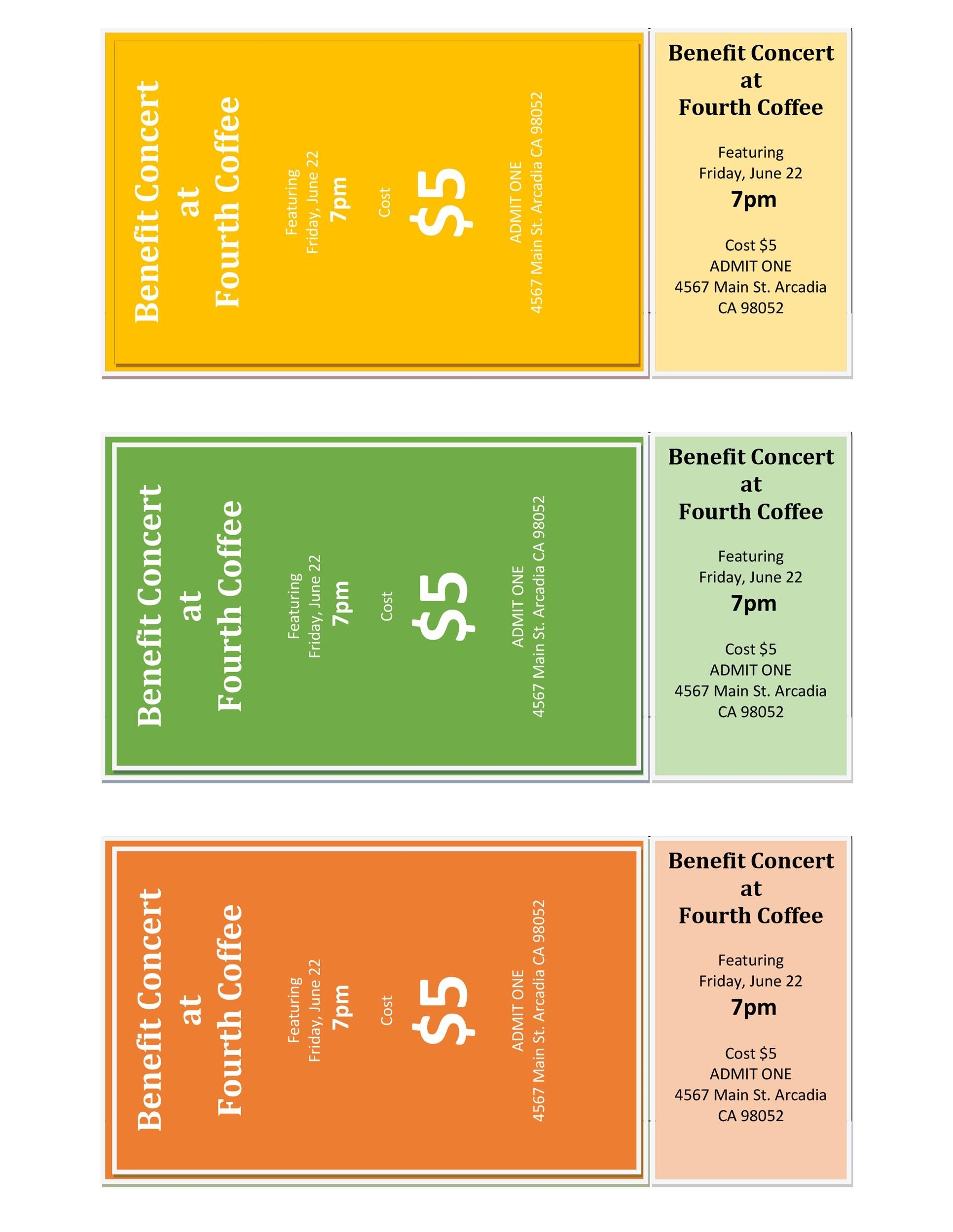 22 FREE Event Ticket Templates (MS Word) ᐅ Template Lab