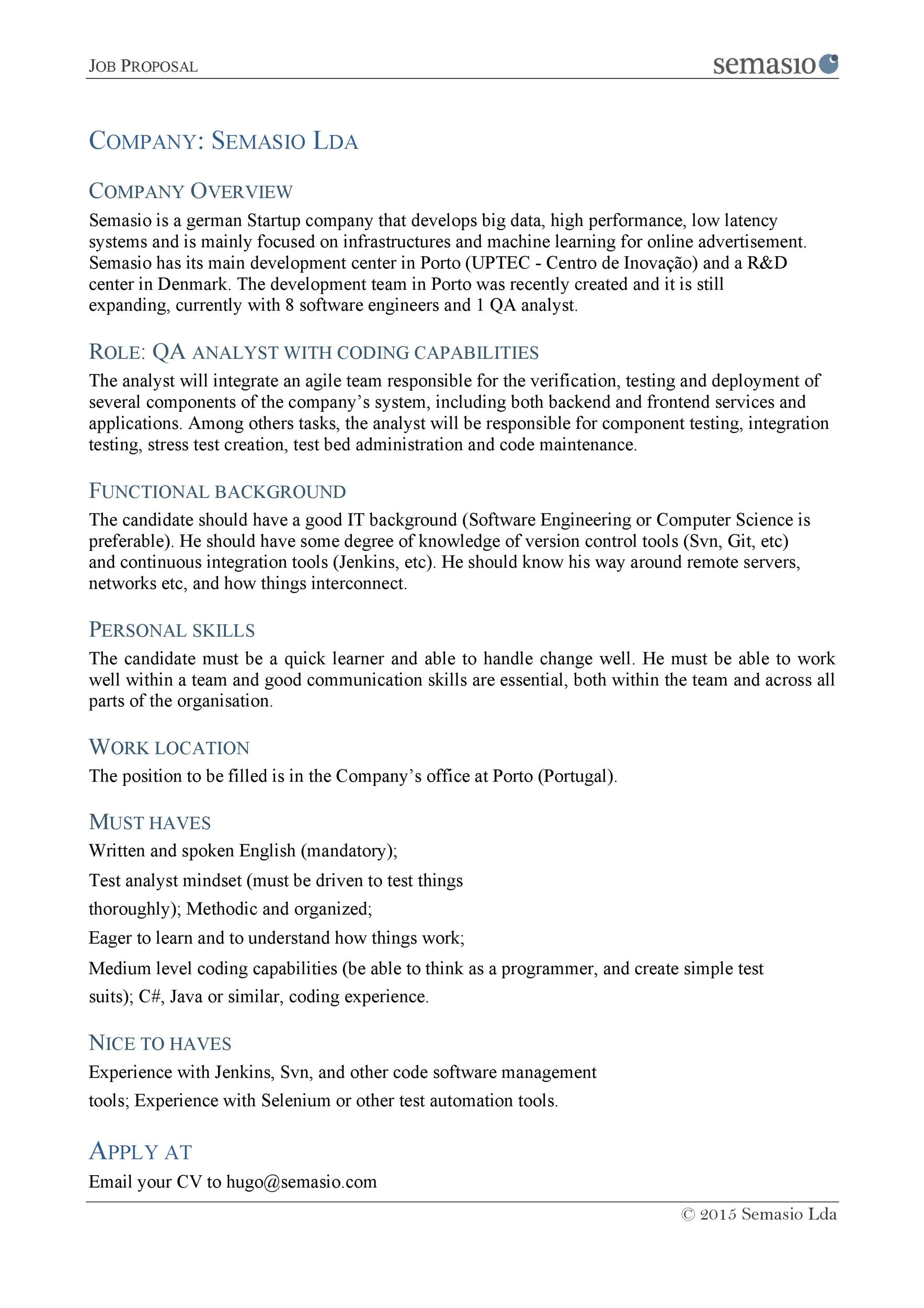 how to write a job proposal sample