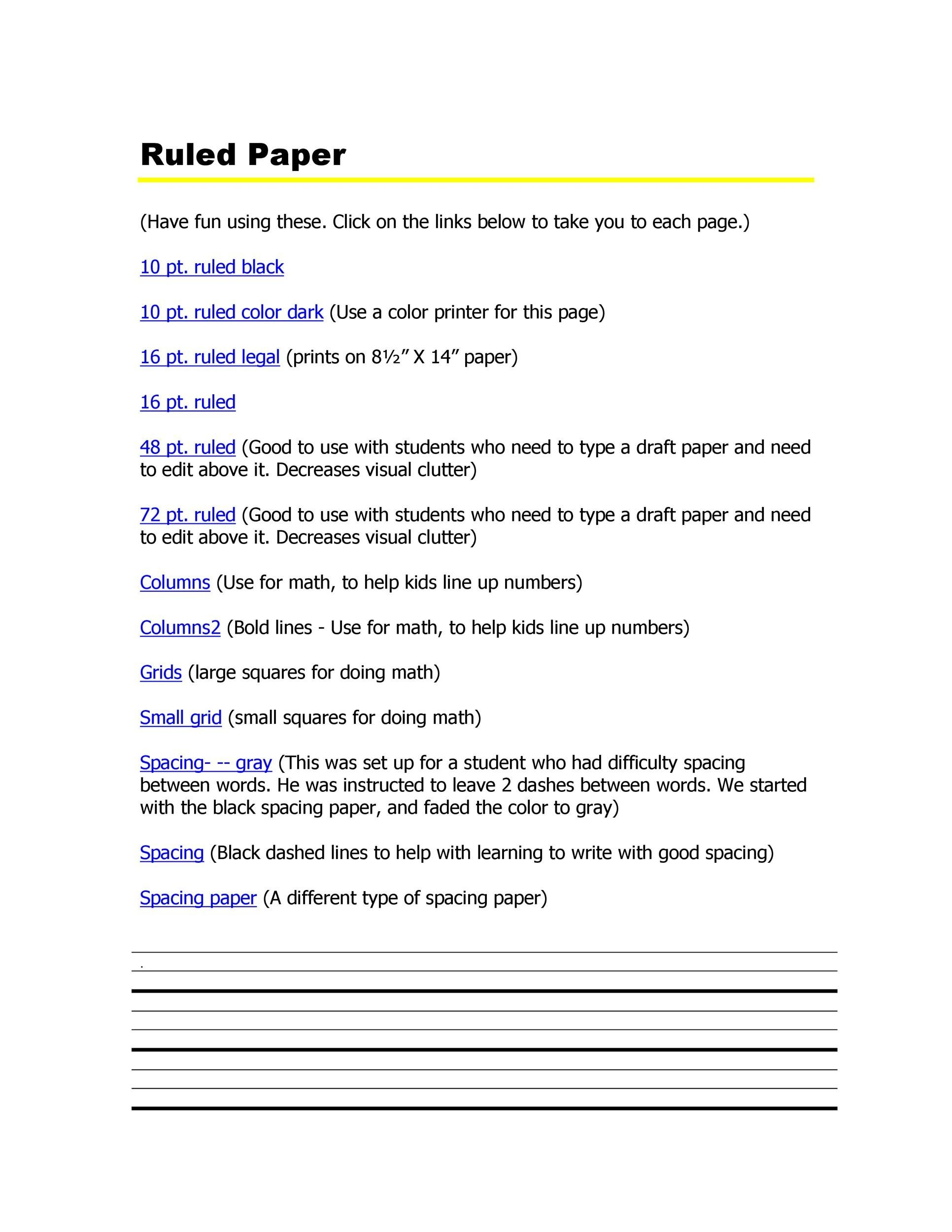32 Printable Lined Paper Templates ᐅ Template Lab