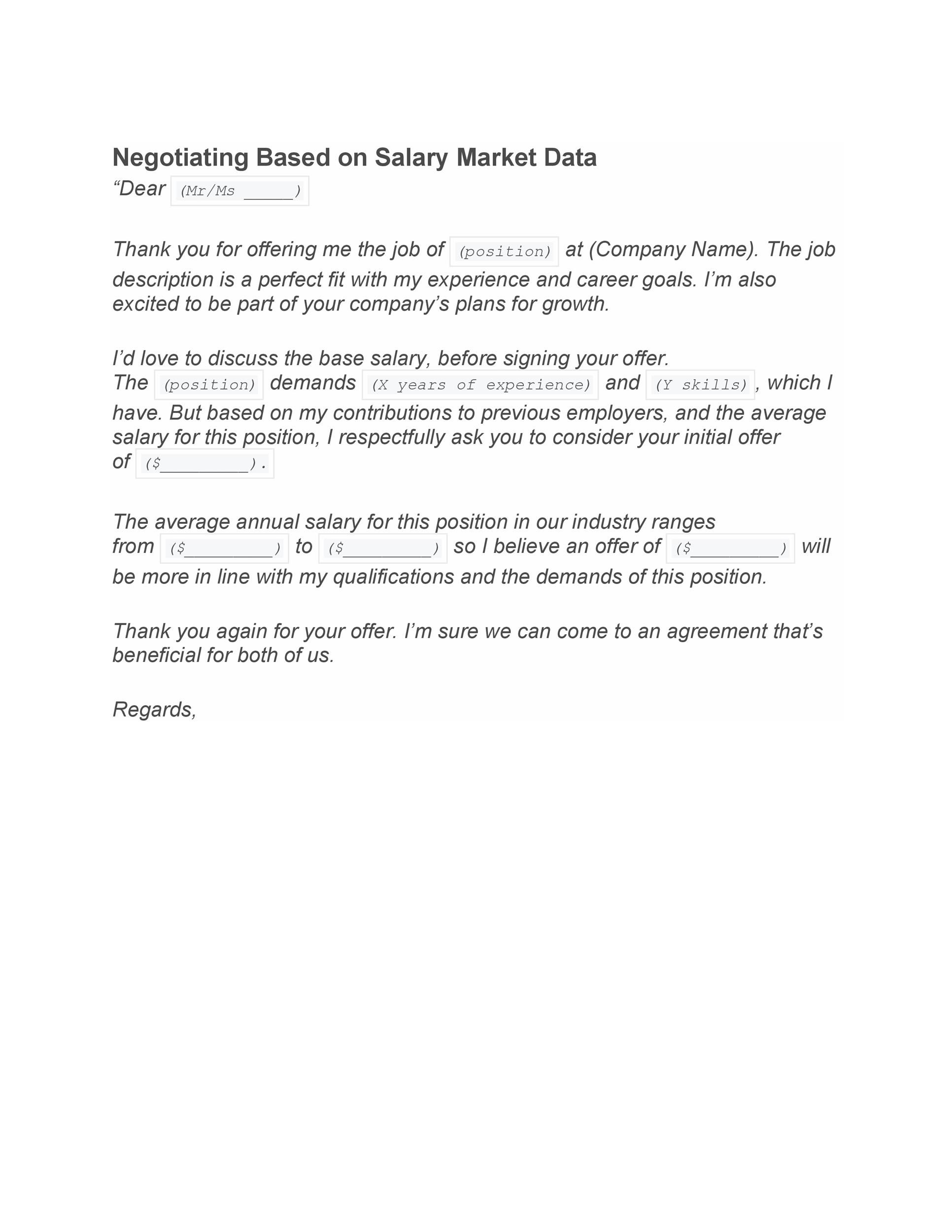 34 Best Salary Requirements Cover Letters (+Tips) ᐅ Template Lab