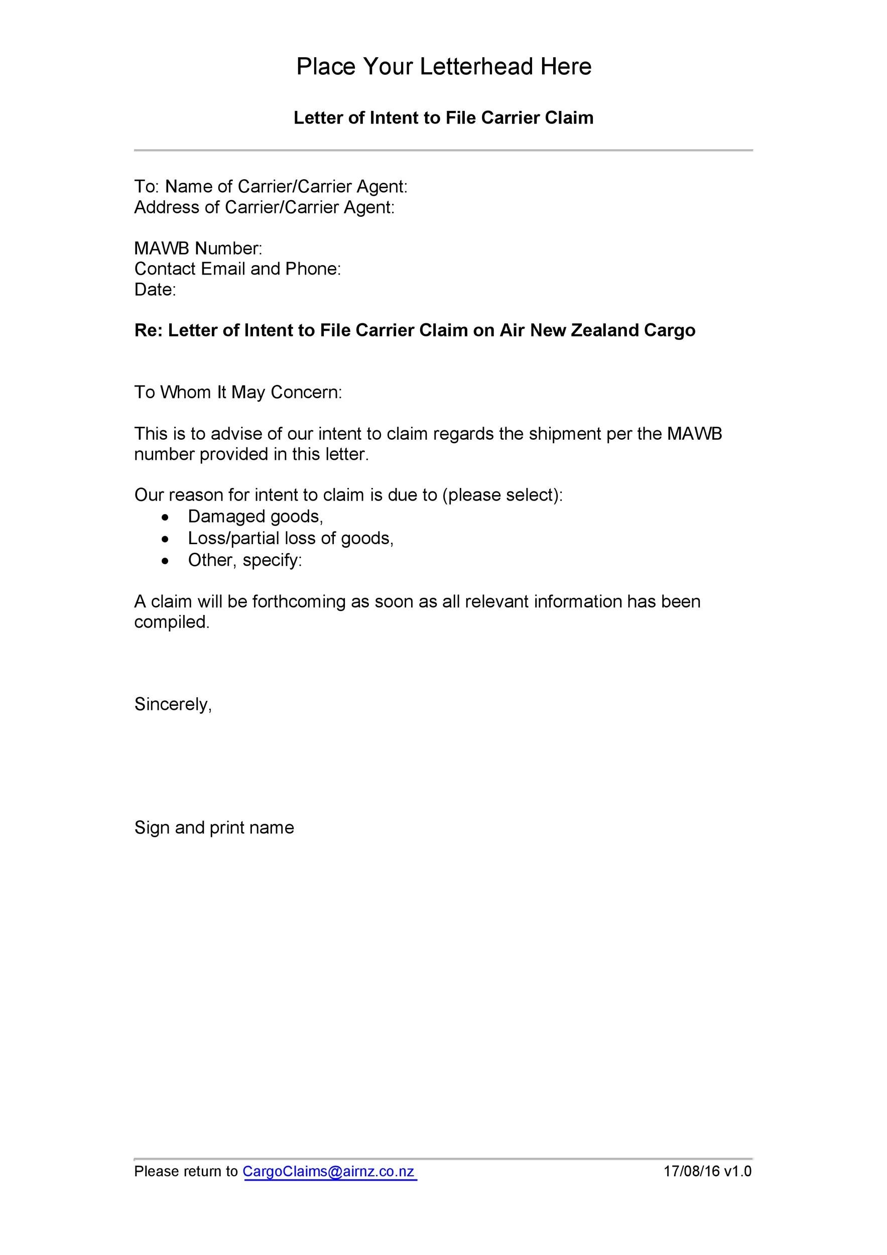 49 Free Claim Letter Examples - How to Write a Claim Letter?