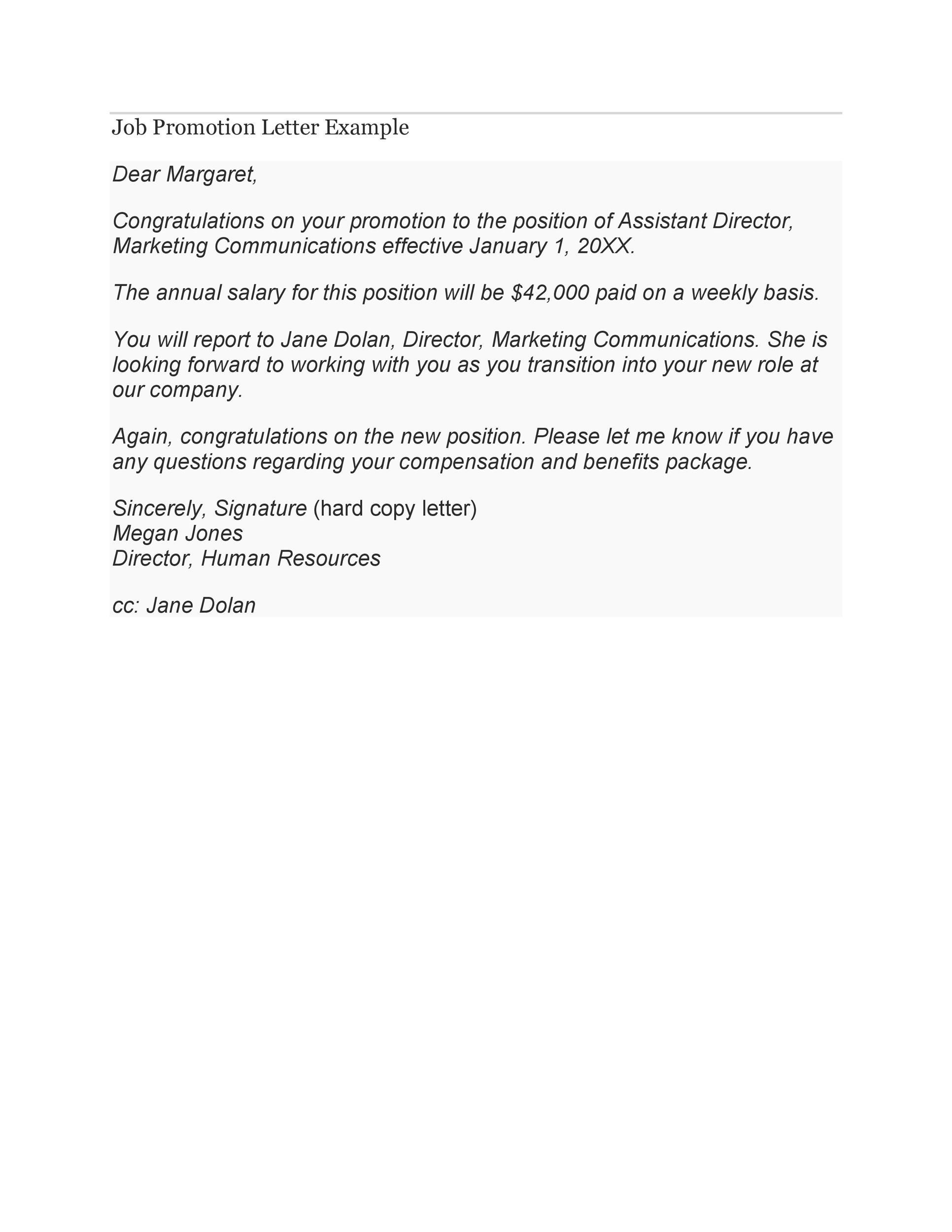 promotion letter formats - Barcaselphee