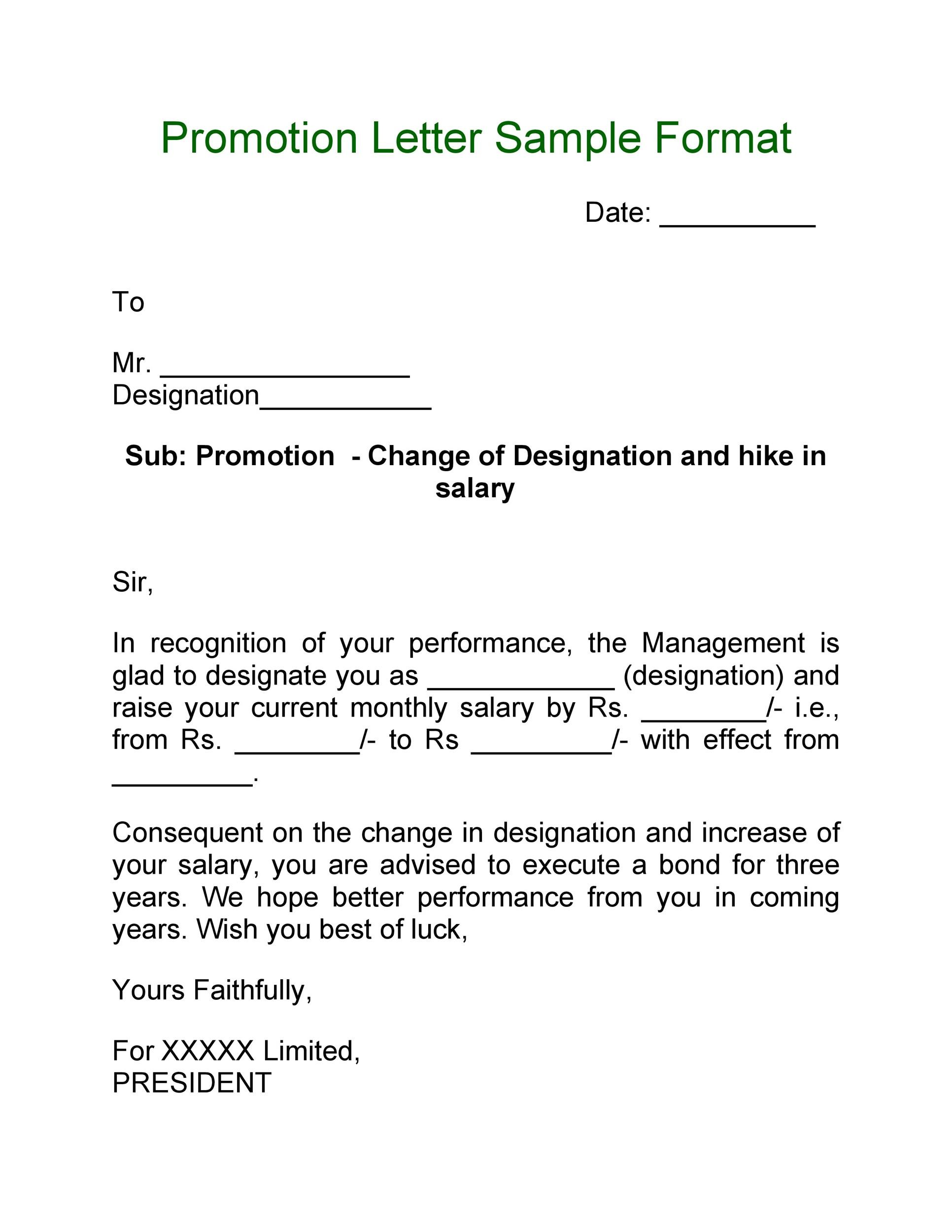 50 Job Promotion Letters (100 Free Templates) ᐅ Template Lab