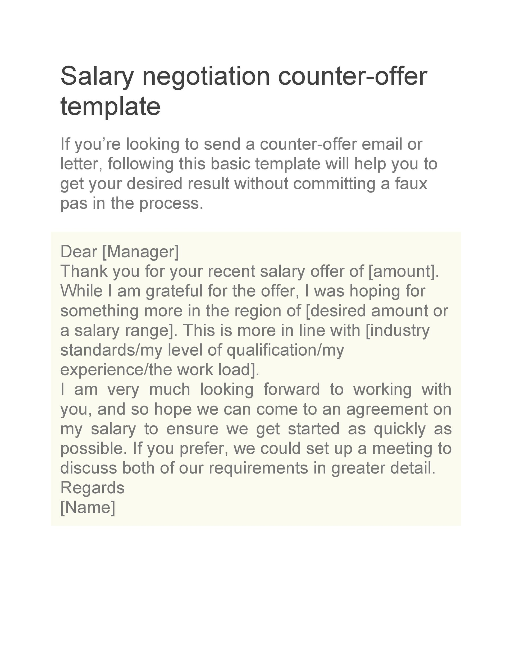 49 Best Salary Negotiation Letters, Emails  Tips ᐅ Template Lab