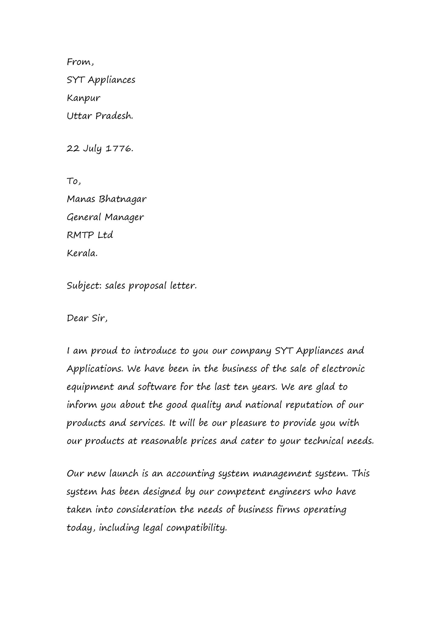 50 Effective Sales Letter Templates (w/ Examples) ᐅ Template Lab
