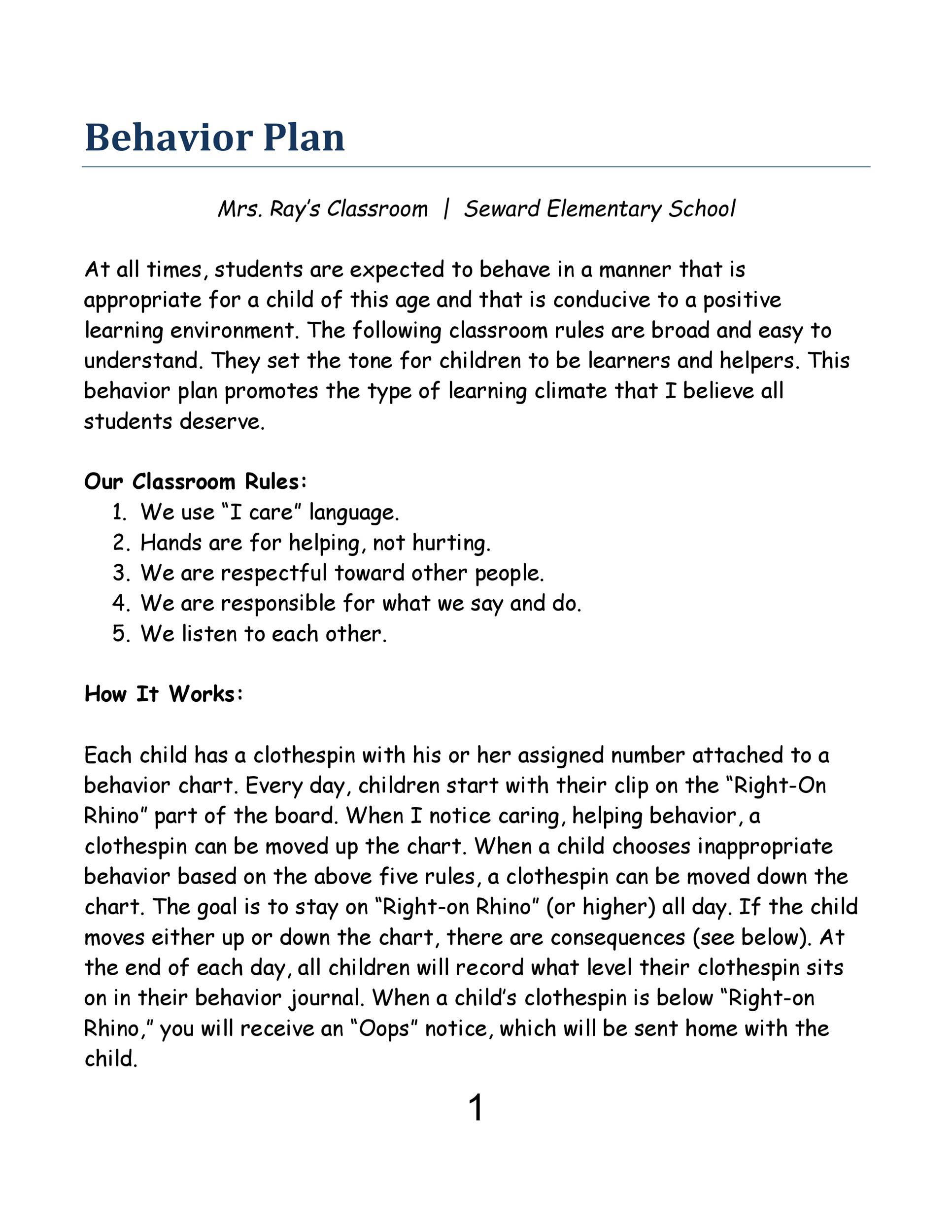 42 Printable Behavior Chart Templates for Kids ᐅ Template Lab