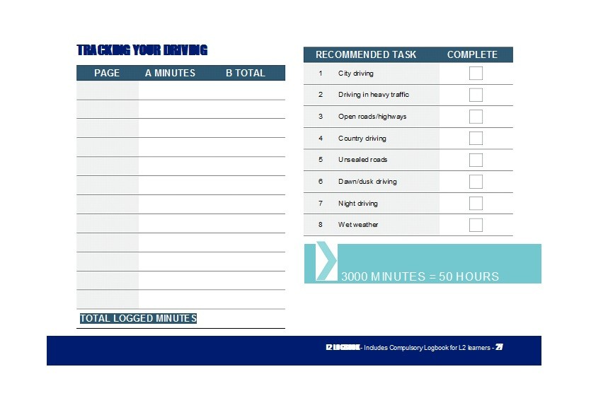 50 Printable Driver\u0027s Daily Log Books Templates  Examples