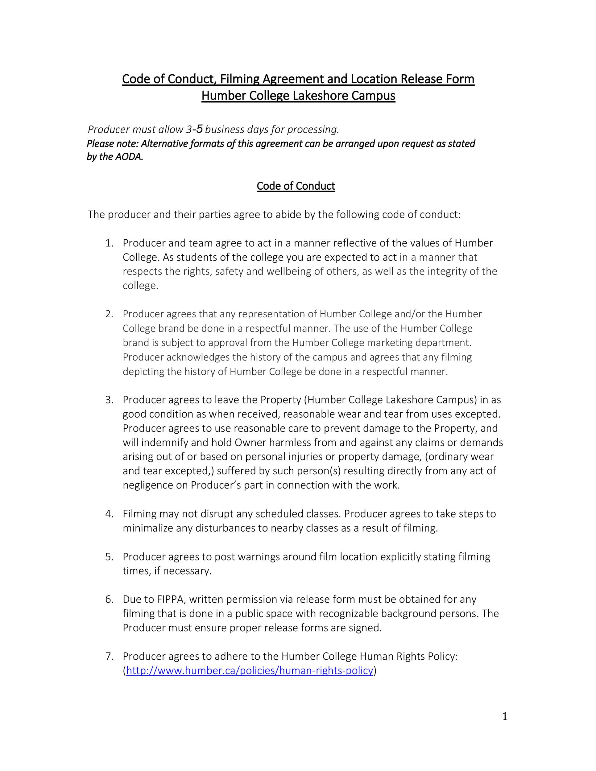 50 FREE Location Release Forms for Film / Documentary / Video