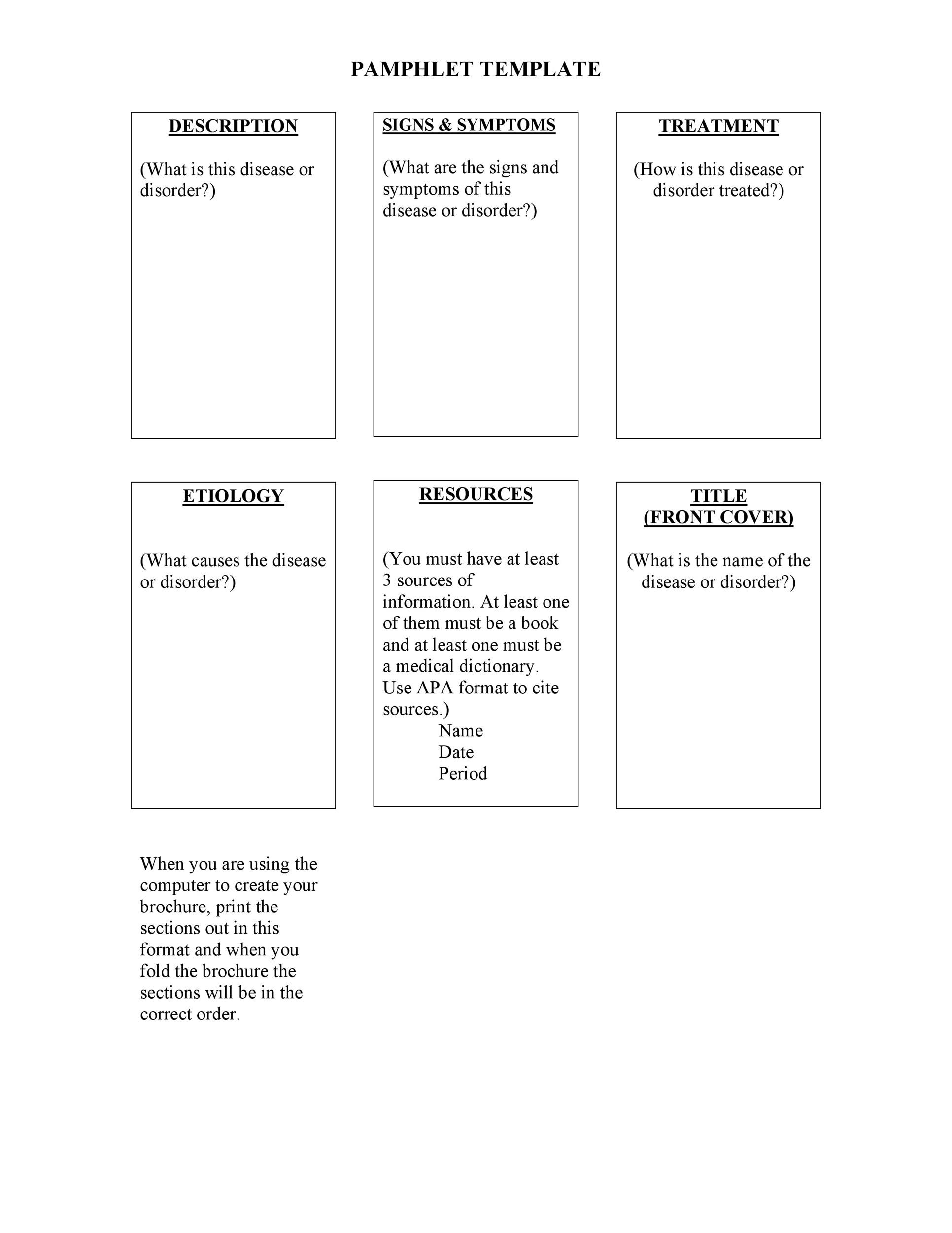 50 FREE Pamphlet Templates Word / Google Docs ᐅ Template Lab