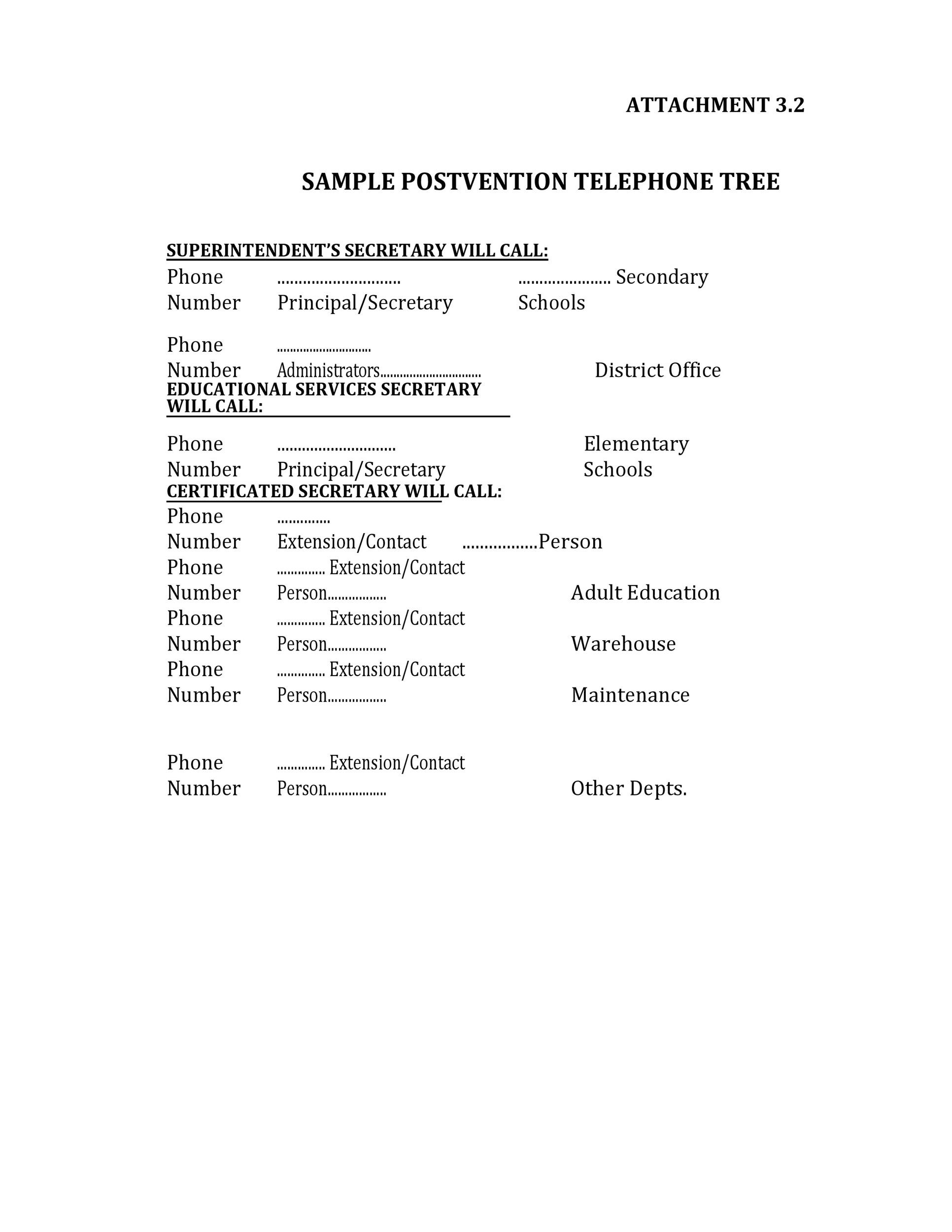 50 Free Phone Tree Templates (MS Word  Excel) ᐅ Template Lab