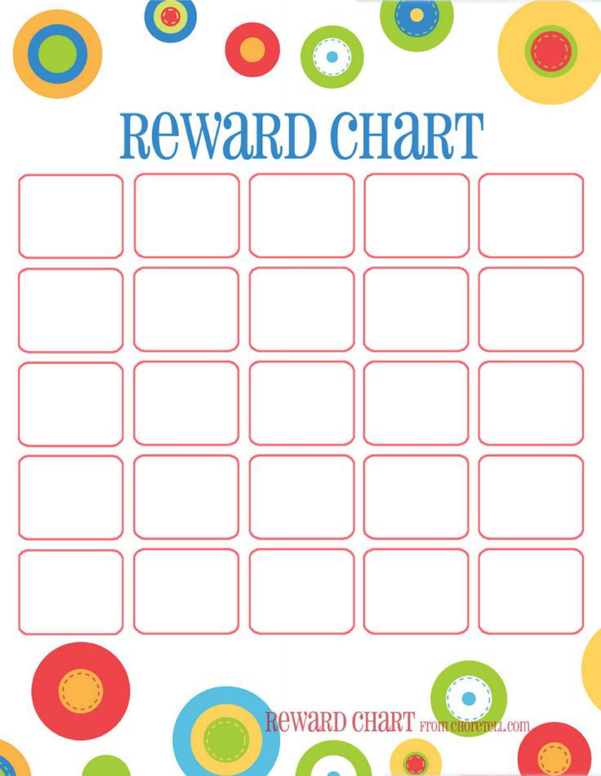 free printable sticker charts