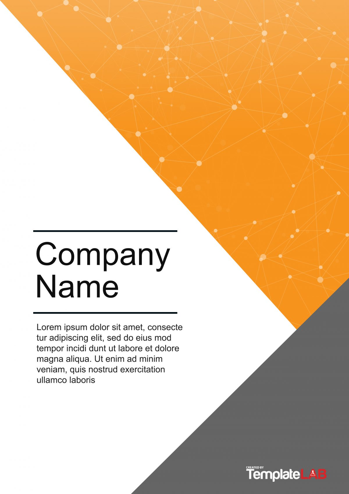 cover page word template free