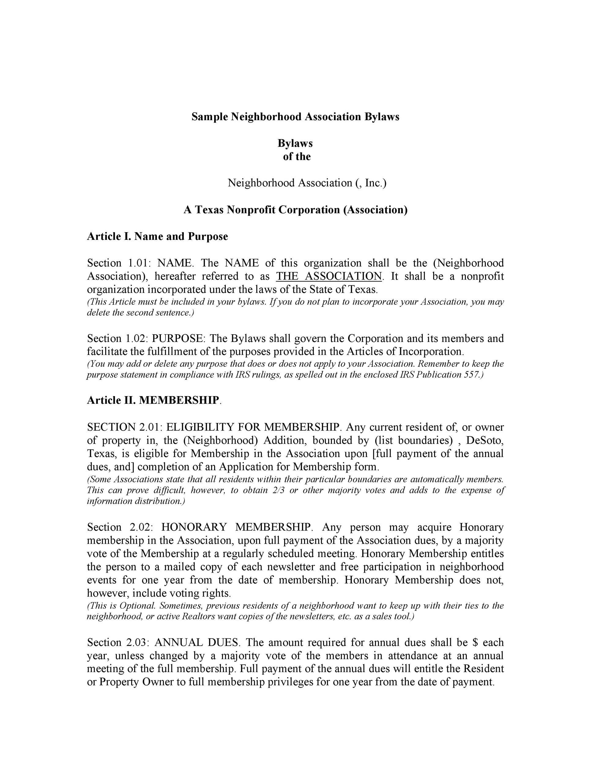 50 Simple Corporate Bylaws Templates  Samples ᐅ Template Lab