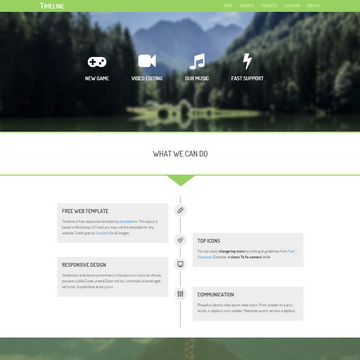 Free Timeline Website Templates by templatemo