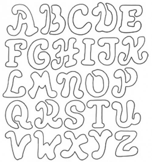 14+ Free Printable Letter Stencils Downloadable Alphabet Letters