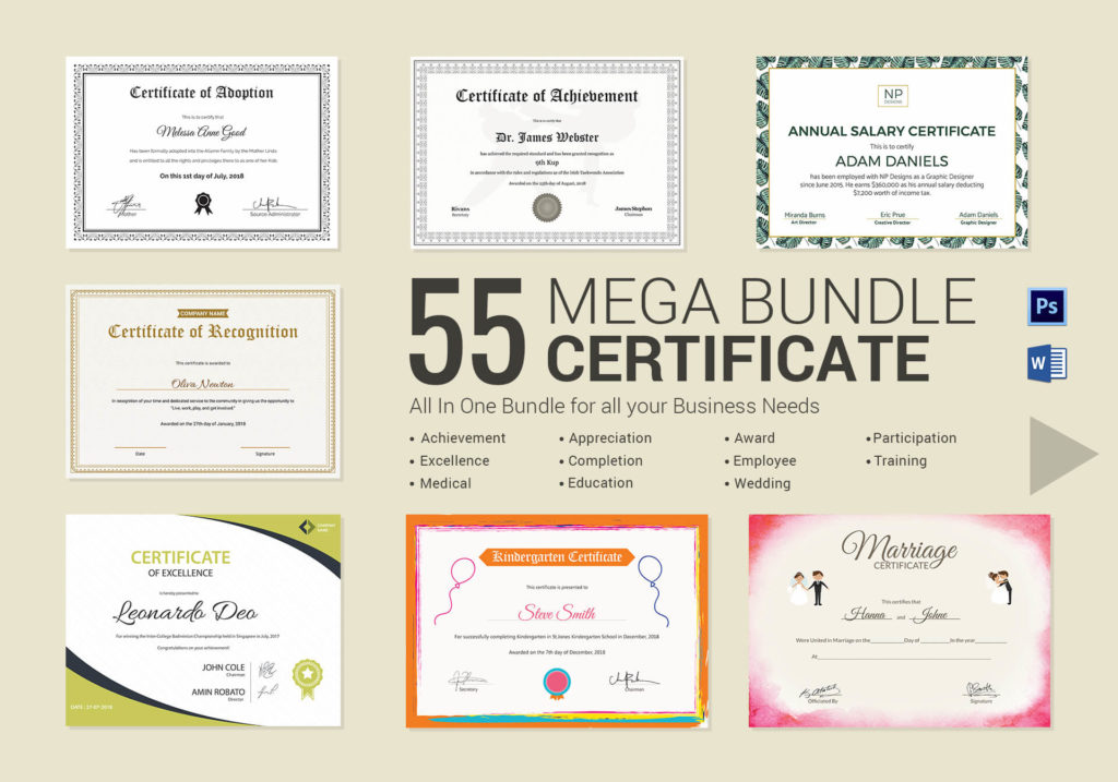 Best Word Certificate Templates 50+MS Word Doc Certificate Sample