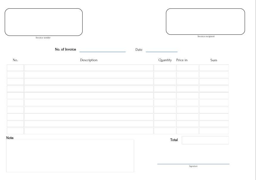 free fillable pdf invoice templates