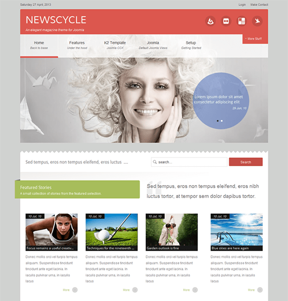 newscycle news joomla templates