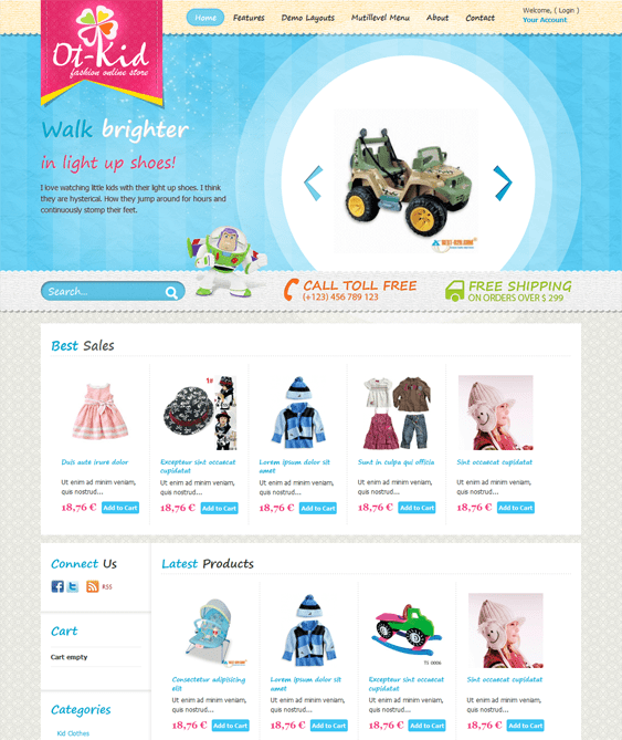 ot kid kids joomla templates